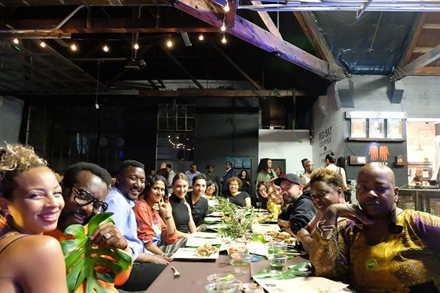 Sentiment II: What a joyFull evening! The Bay Area Soul Sector showed up for a sold out AfroVegan dinner experience w Chef Bryant Terry and Team. Could not have been better. Salute, Chef. #AfroVegan #PanAfrican #Senegal #BlackJoy #FamilyDinner #BryantTerry #OaklandFood #OaklandFoodie #OaklandArt #MATATU19