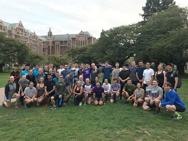 What do all these 43 cool people have in common? They all came to the first Husky Tri meet the team run last night! Thanks to everyone who showed up, it's gonna be a fun year! If you missed this one, it's all good, we have a spin class tonight, at 7:30 in the IMA. @clifbar @talkingrainbeverageco @blueseventy @buduracing  @nuunhydration @superjocknjill  and @zealiosskincare