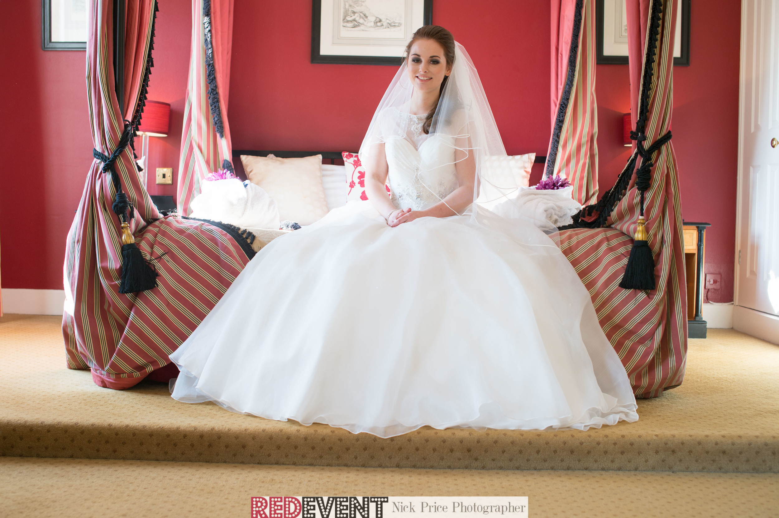 Our model Megan in The Bridal Suite