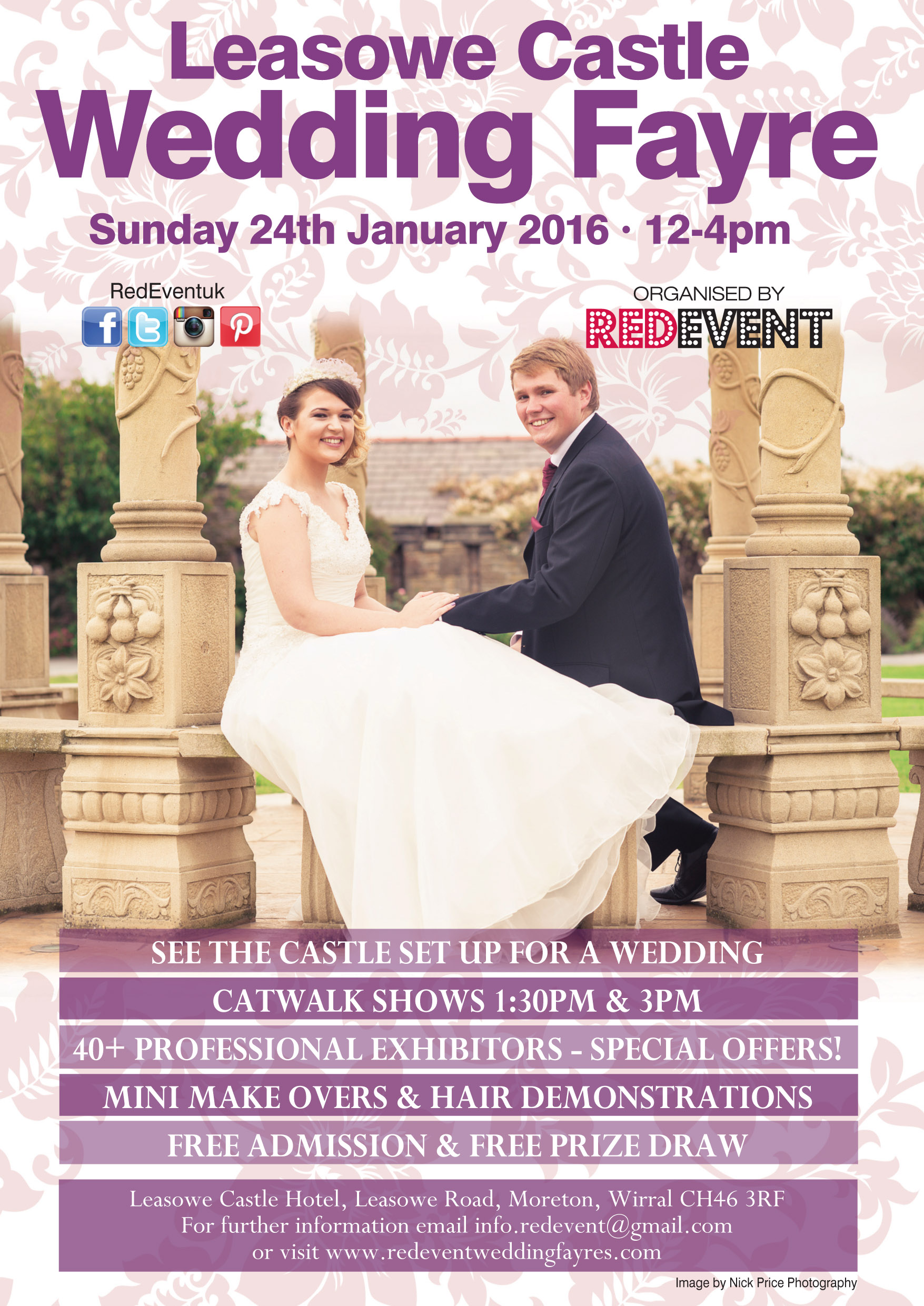 Red Event Leasowe Castle Wedding Fayre, Wirral