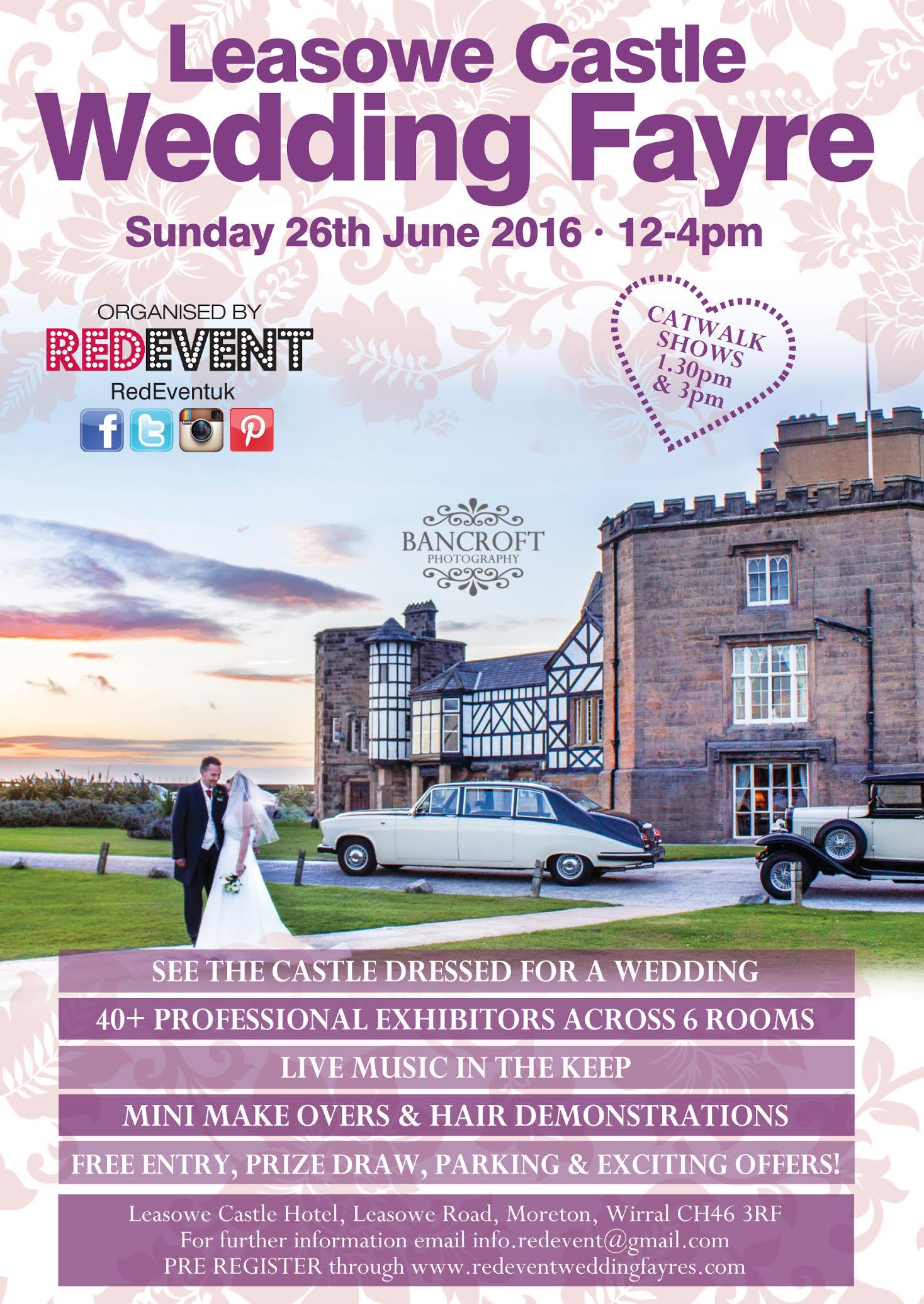 Leasowe Castle Wedding Fayre flyer