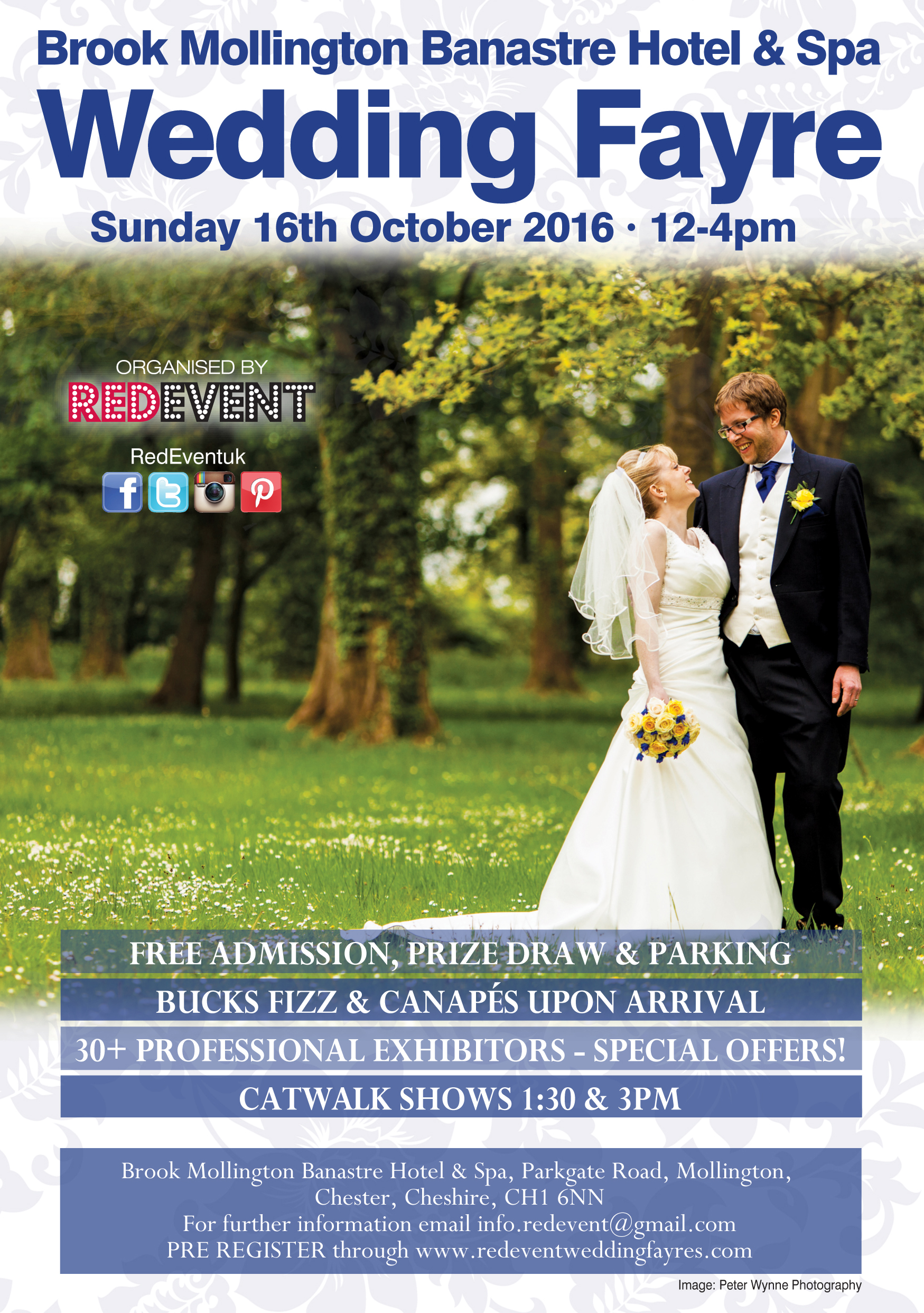 Brook Mollington Banastre Hotel & Spa Cheshire Wedding Fayre