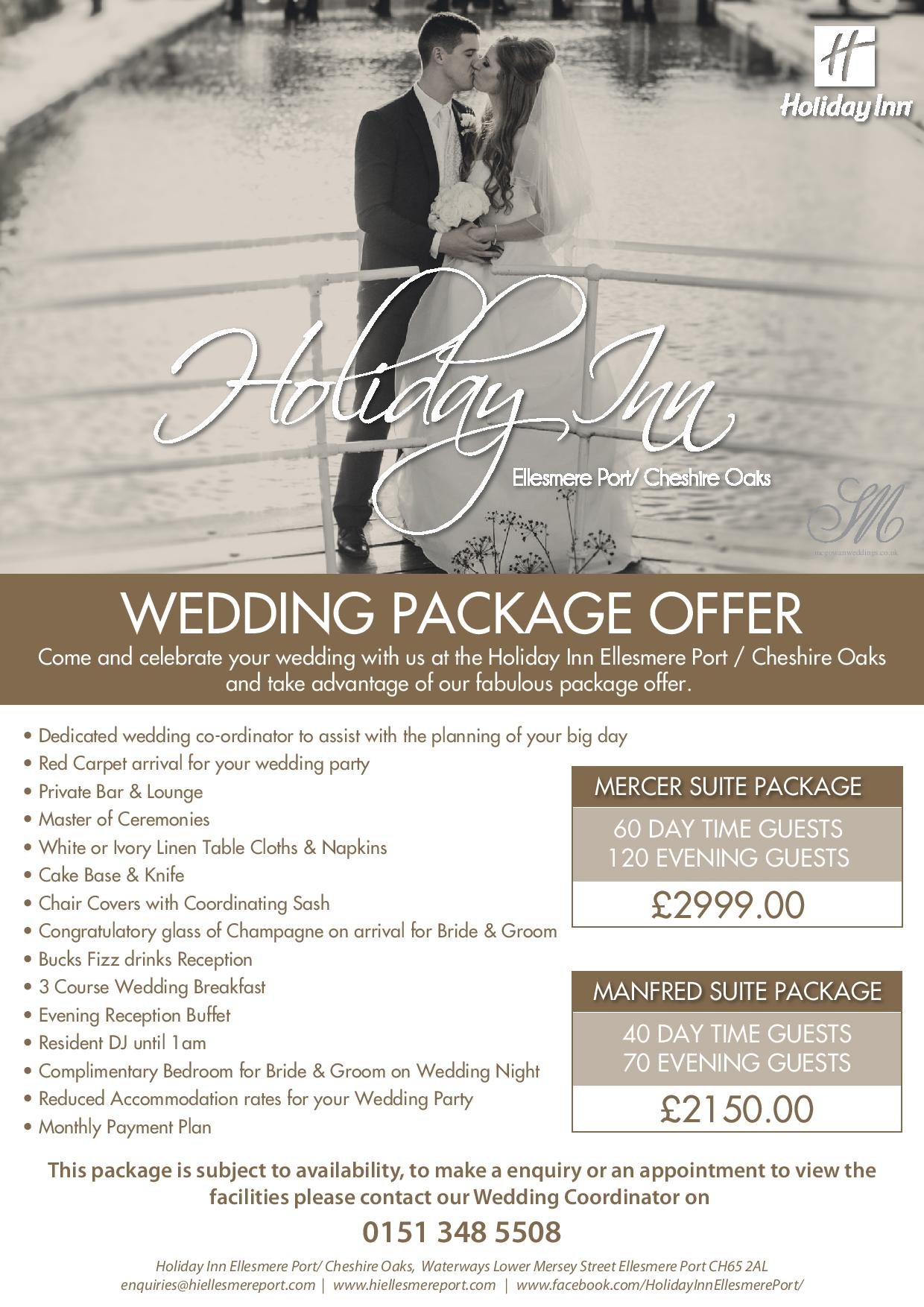 Holiday Inn Ellesmere Port Cheshire Oaks Wedding Fayre special Offer