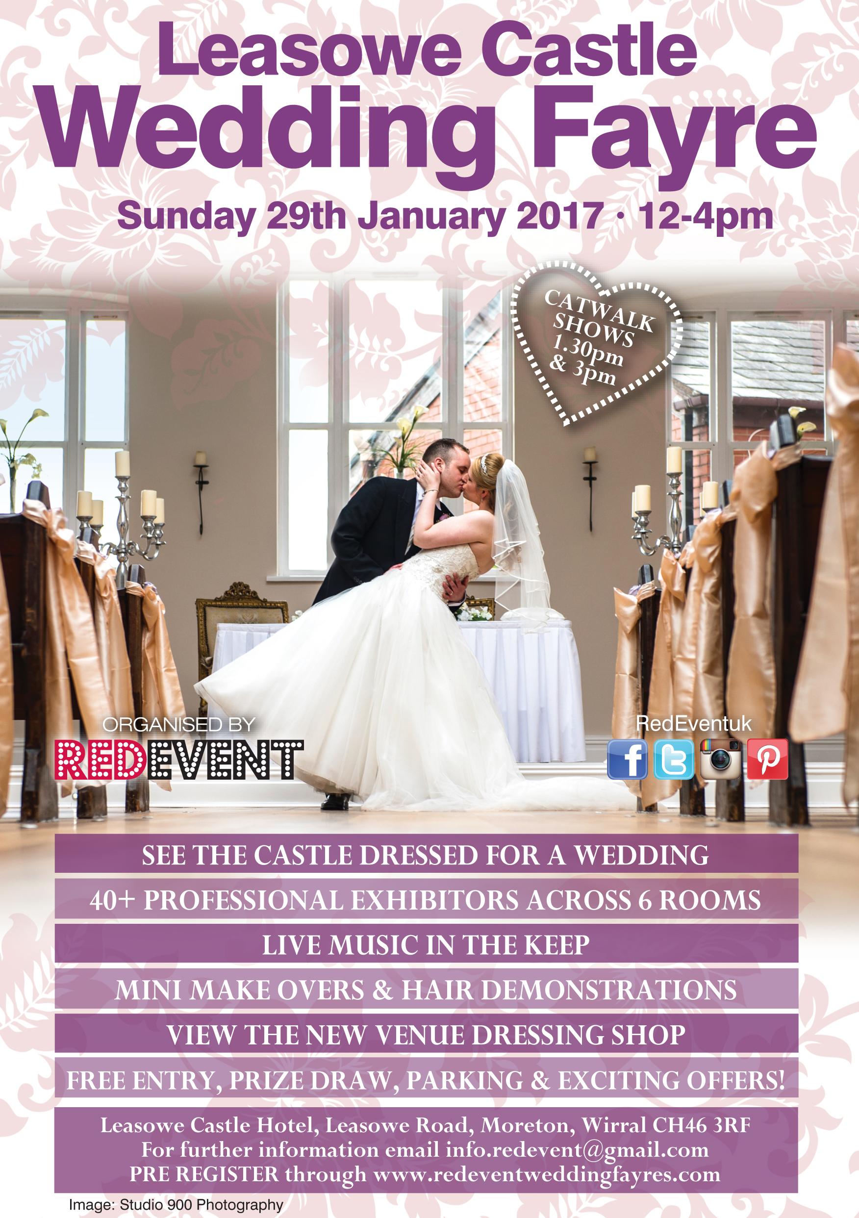 Leasowe Castle Hotel Wirral Wedding Fayre Flyer