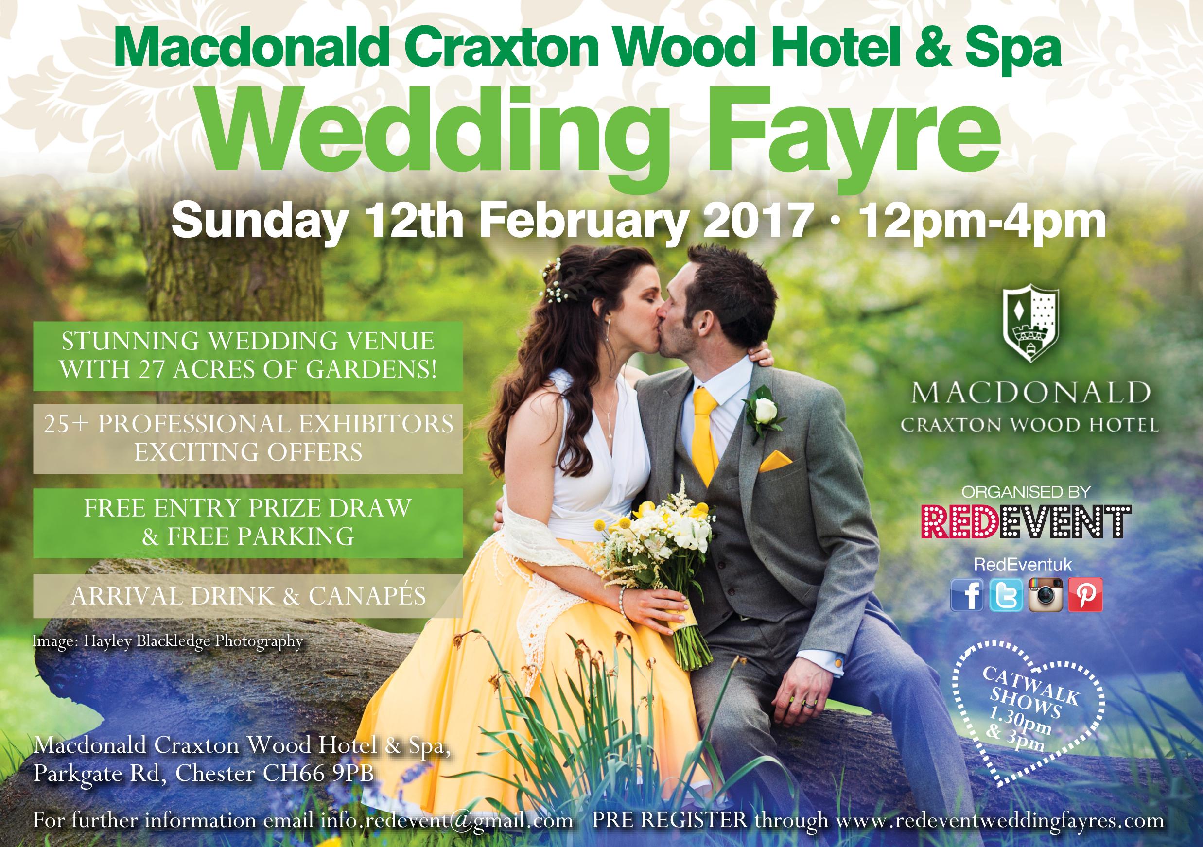 Macdonald Craxton Wood Hotel & Spa Wedding Fayre Chester www.redeventweddingfayres.com