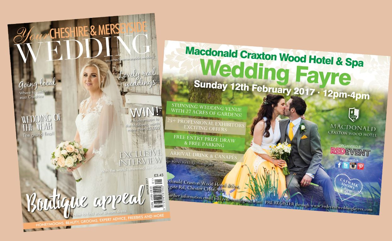 Your Merseyside Wedding Magazine Special Offer Red Event Chester Wedding Fayre www.redeventweddingfayres.com