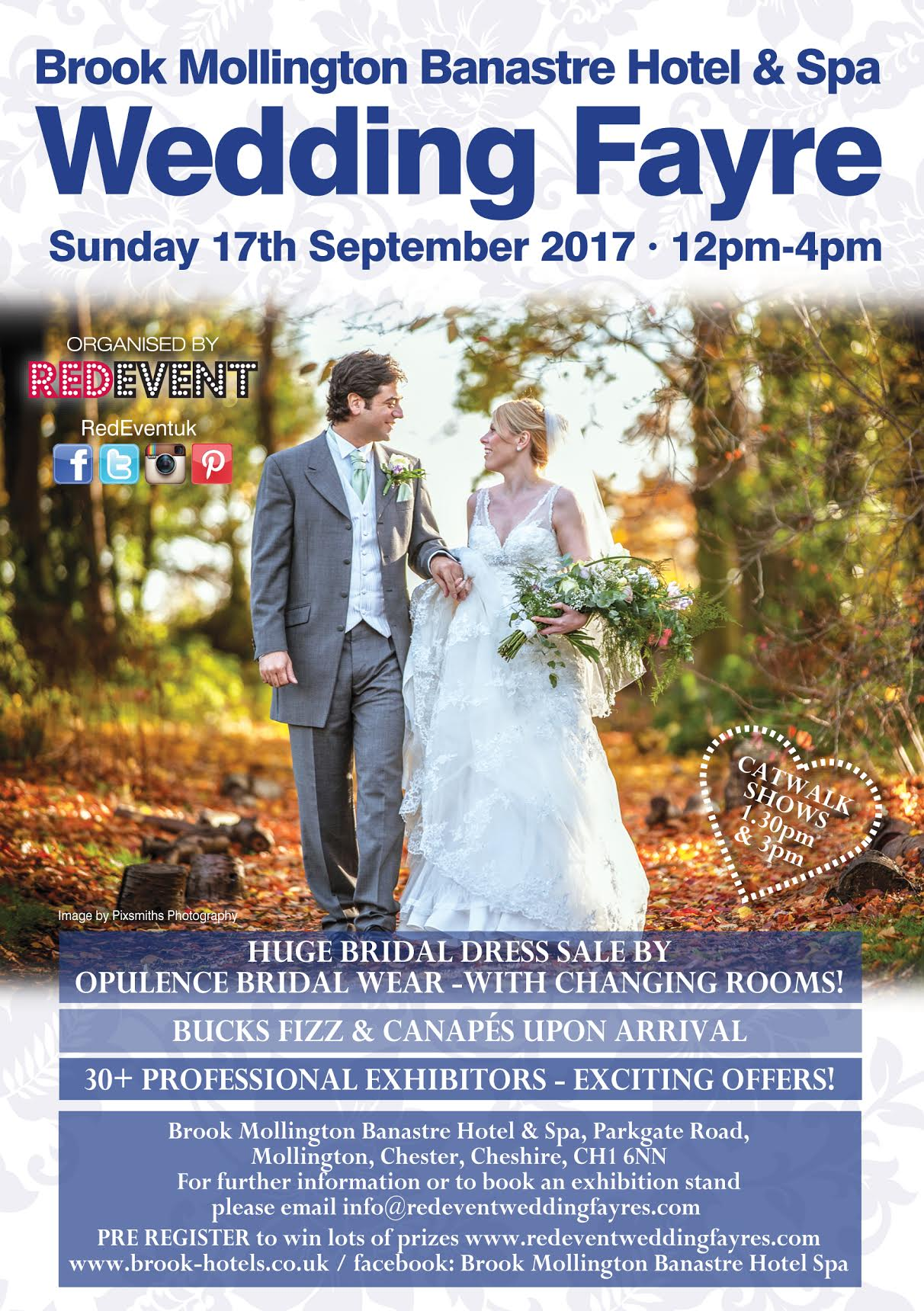 Brook Mollington Banastre Hotel & Spa Chester Wedding Fayre Red Event.jpg