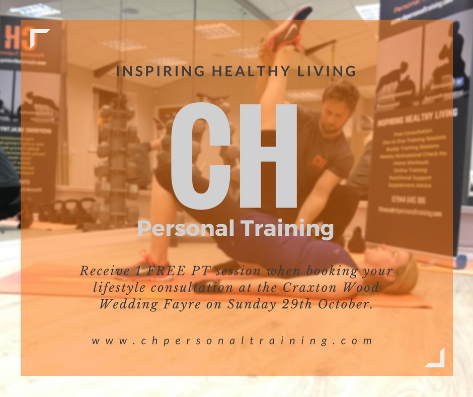 CH Personal Training Special Offer for Macdonald Craxton Wood Wedding Fayre Chester, Cheshire Wedding Fair, Merseyside Wedding Fayre, Wirral Wedding Fair Red Event Fair2.jpg