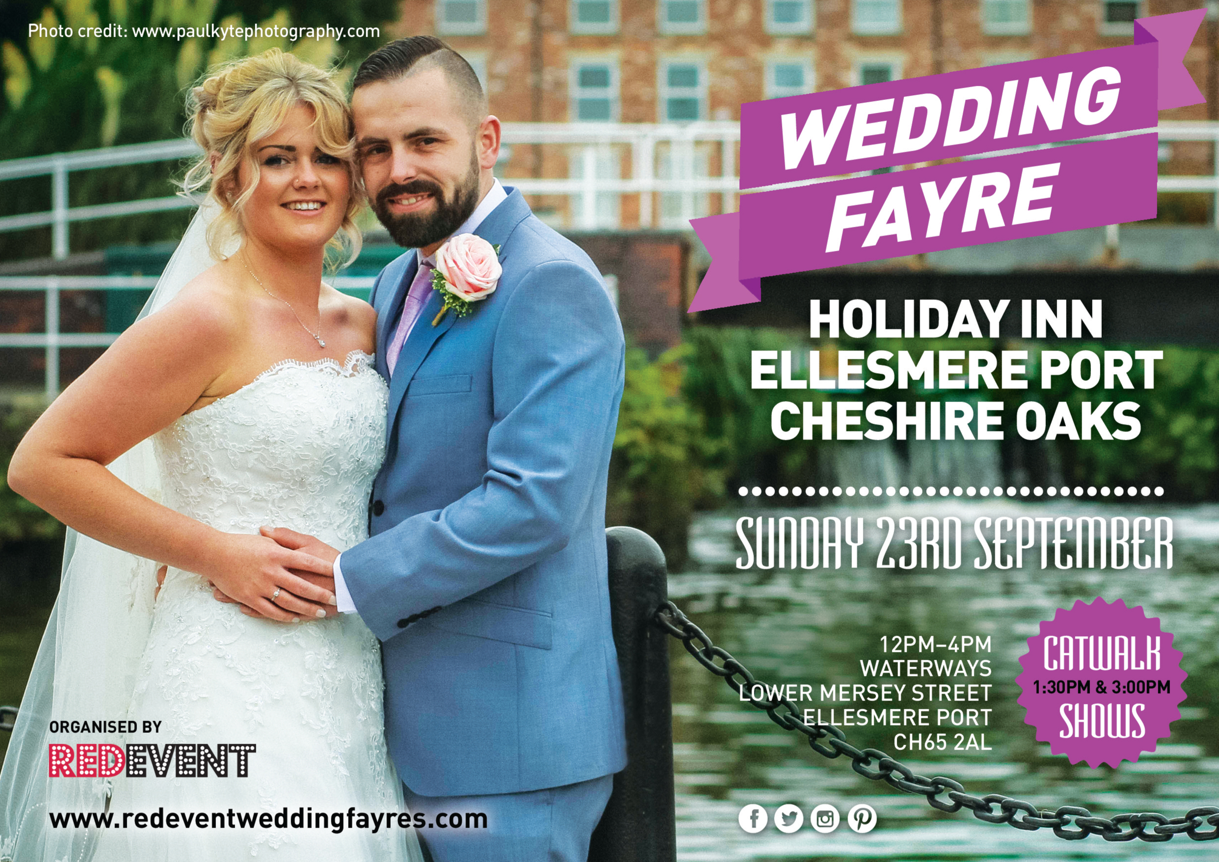holiday Inn Ellesmere Port Cheshire Oaks Wedding Fayre www.redeventweddingfayres.com
