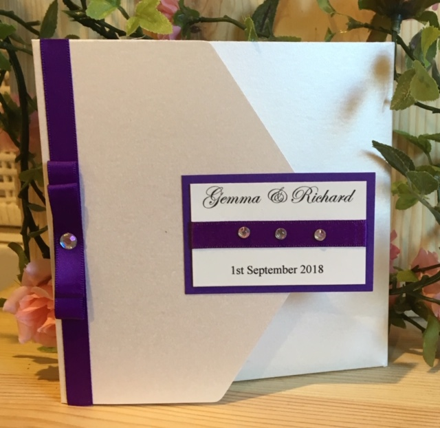 Purple Inspired wedding Invitation!