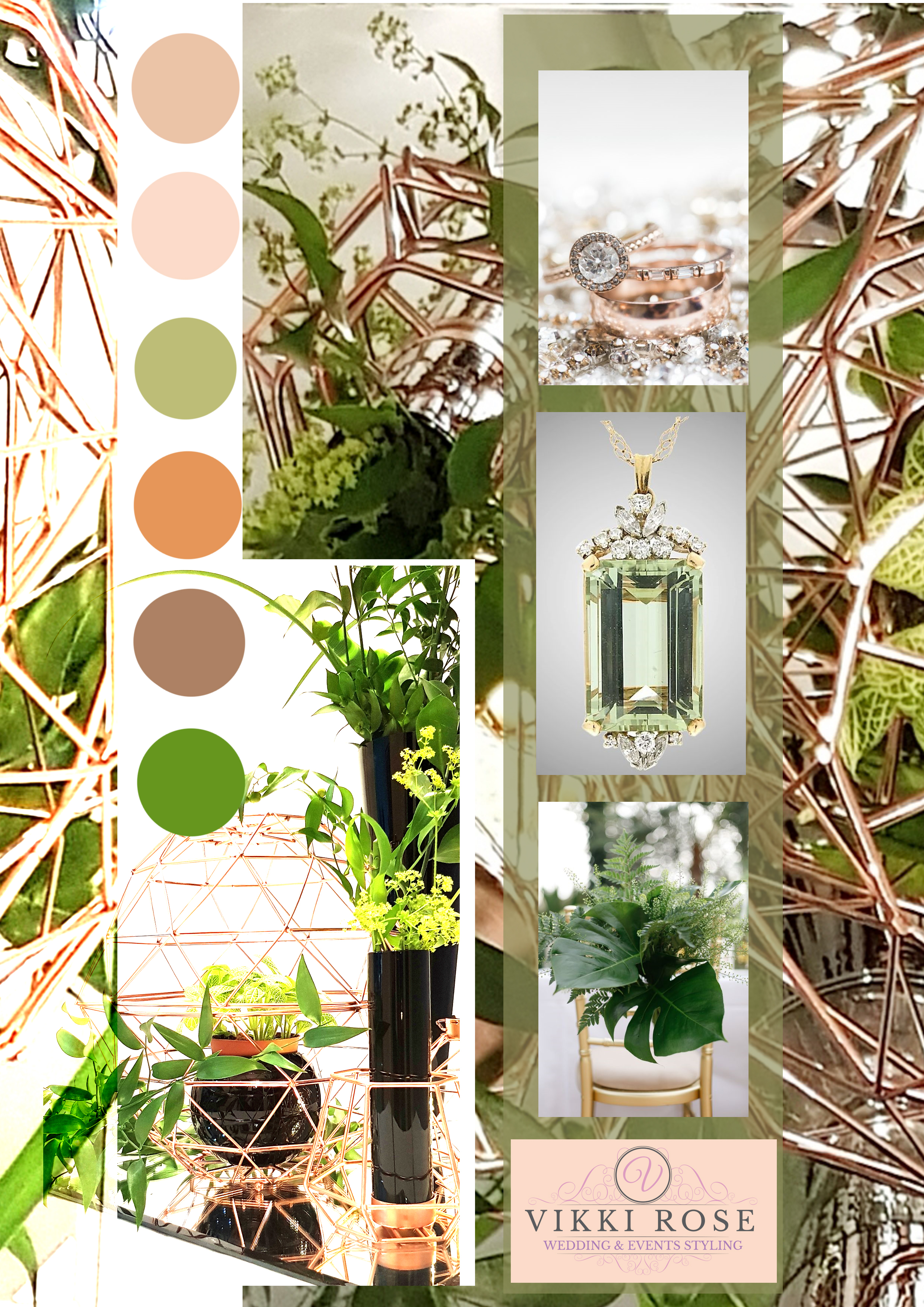 2. Use metallic to enrich your colour scheme. -