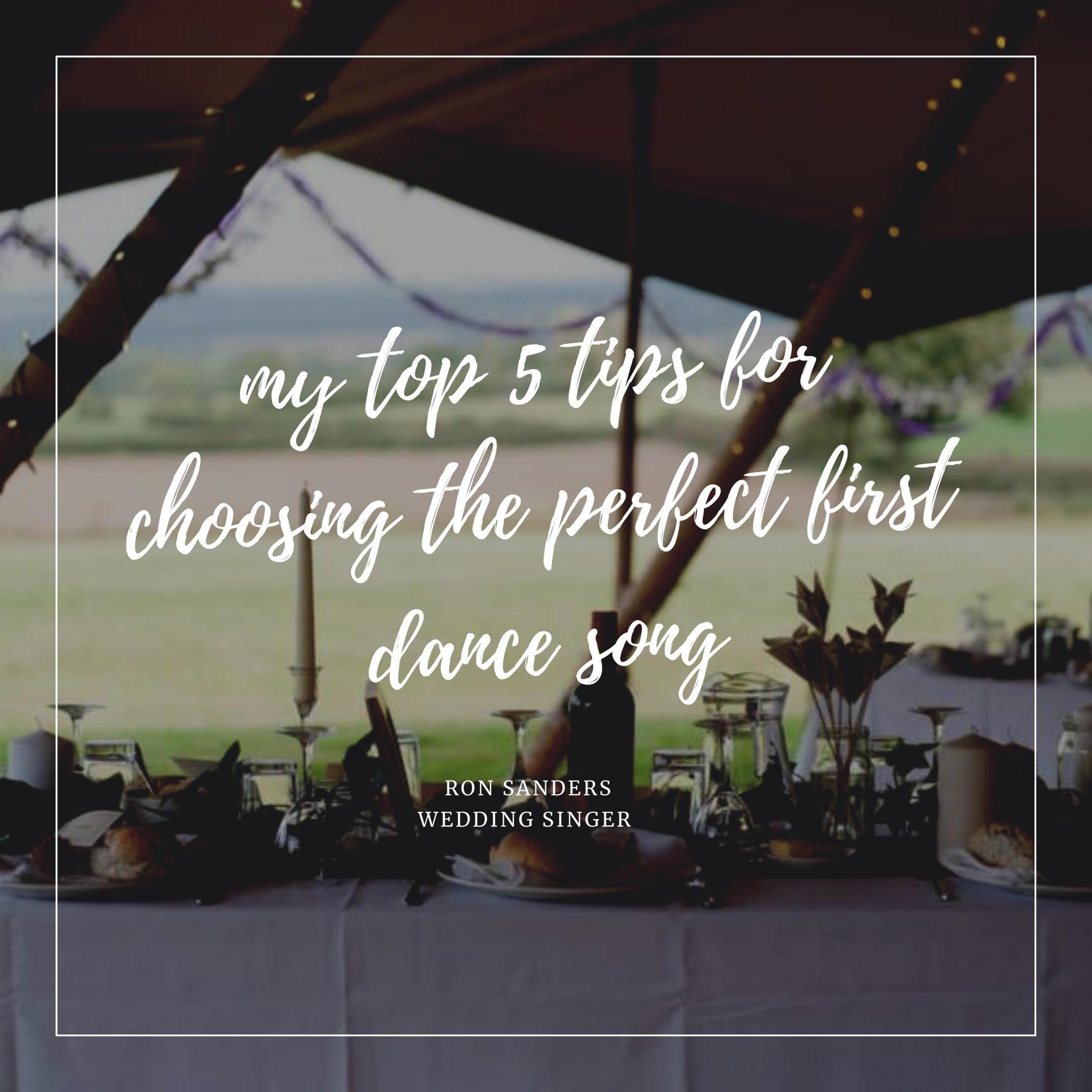 Ron Sanders Wedding Singer Top tips for choosing your firt dance song! www.redeventweddingfayres.com.jpg