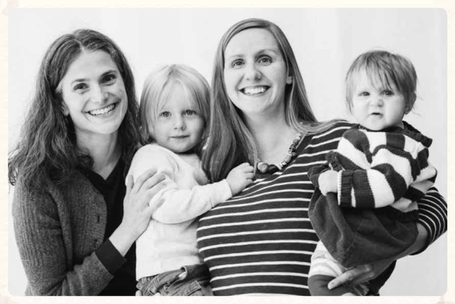 Robin Illian, CPM with Maine Doulas' owner Natalie Grammer and her children.