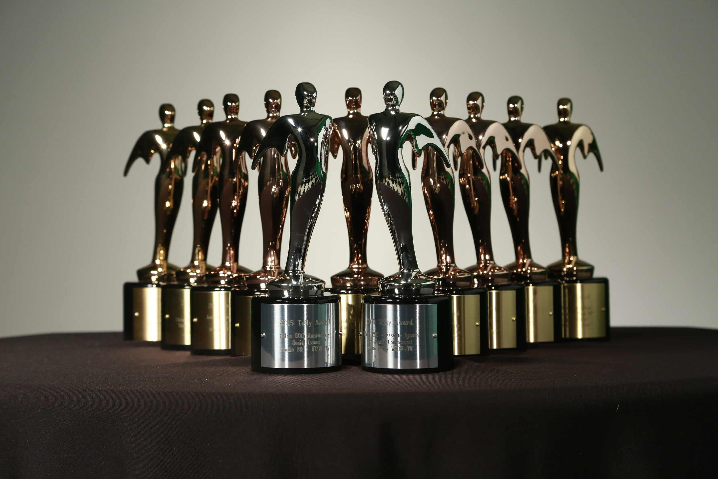 Studio 20 won 2 silver awards and 3 bronze for a total of 12 Telly's since 2012 .
