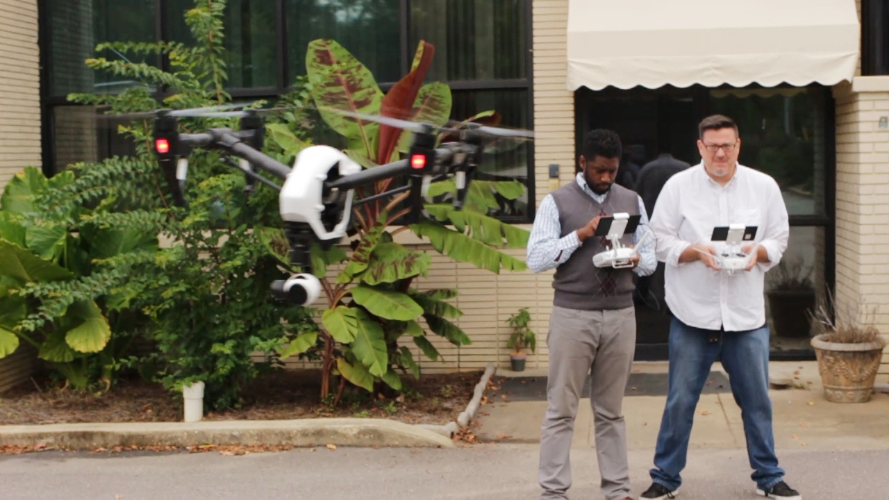 Flying the DJI Inspire drone