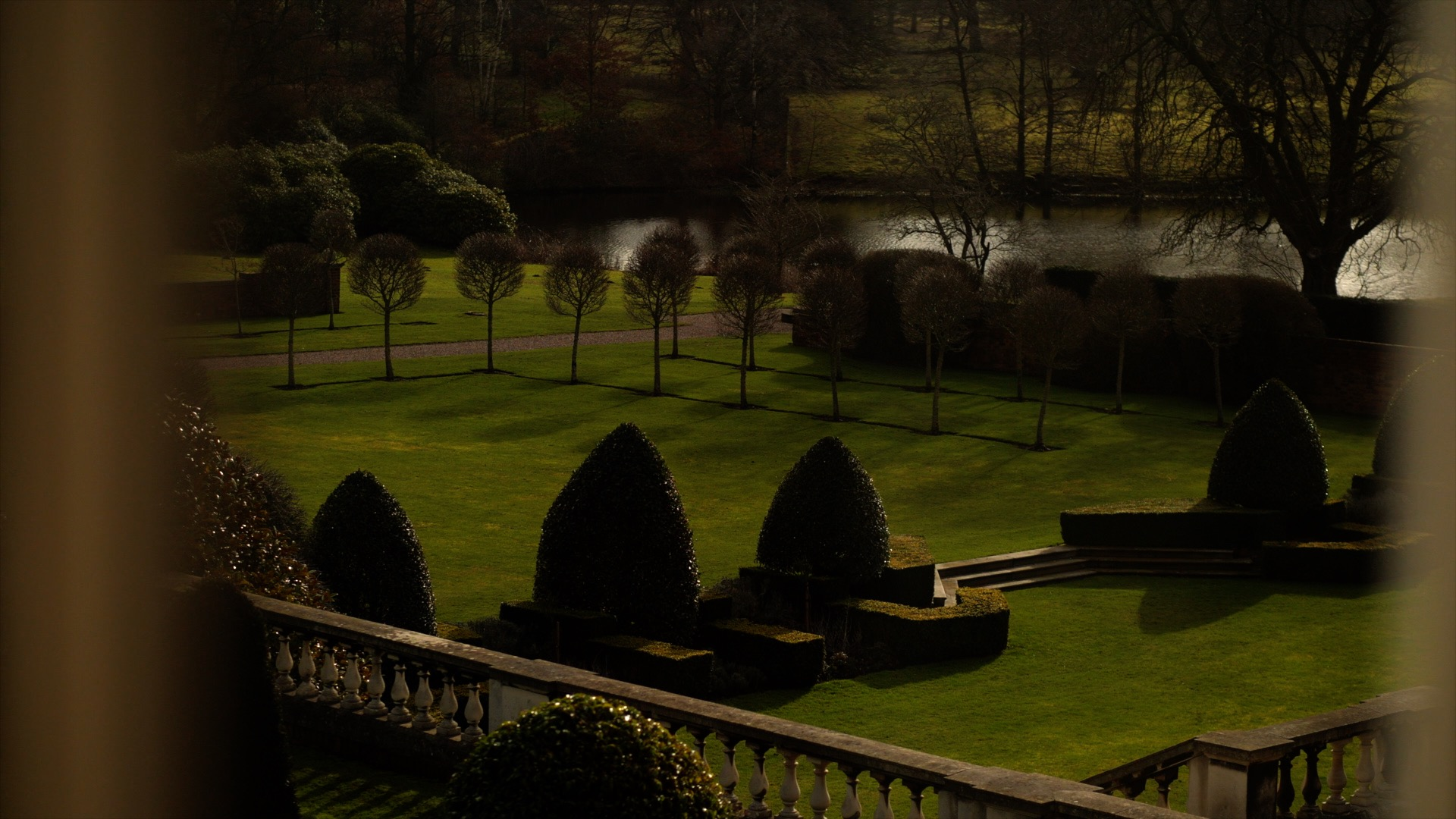 The stunning grounds of Knowsley Hall, showing the trees, garden and lake, which are all beautifully kept. The view from Jen's bridal suite, which is absolutely mesmerising.