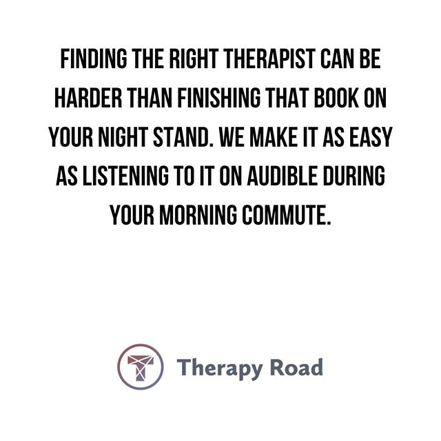 With Therapy Road, we simplify finding the therapist that best fits your needs. Visit us at https://therapyroad.com . . . #MentalIllness #MentalHealth #MentalHealthJourney #MentalHealthAwareness #Anxiety #Depression #OCD #PostpartumDepression #Postpartum #MentalHealth #Health #Wellness #LoveYourself #Bipolar #SelfEsteem #SelfHarm #PTSD #Relationships #Millennials #Support #MentalHealthSupport #DowntownChicago #Chicago #ChiTown #MyTherapyRoad #ChicagoTherapist #ChicagoTherapists