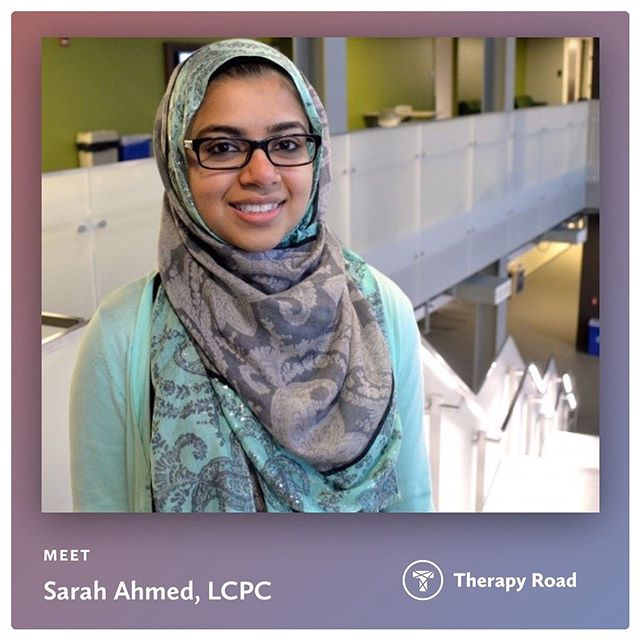 This #WelcomeWednesday we would like to welcome Sarah Ahmed, LCPC to the community. Sarah is a part of the team @solwaypsychology & she specializes in trauma, anxiety, depression & life stressors to name a few. She likes to incorporate non-verbal techniques into her therapy such as art & writing. Check Sarah out on Therapy Road (link in bio!) . . #MyTherapyRoad  #ChicagoTherapist #ChicagoTherapists  #MentalHealth  #Trauma #Depression  #Anxiety #Stressors