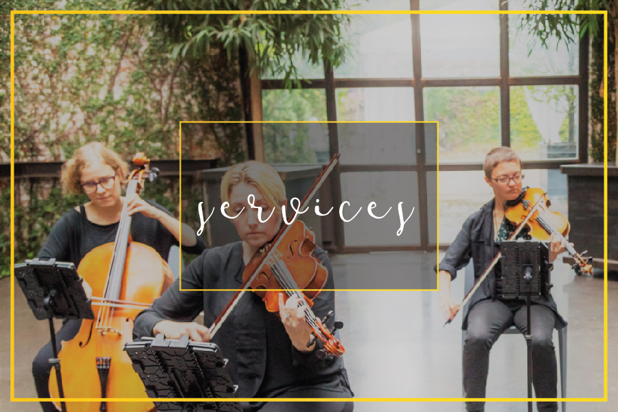 Contemporary and classical music for wedding ceremonies and private events