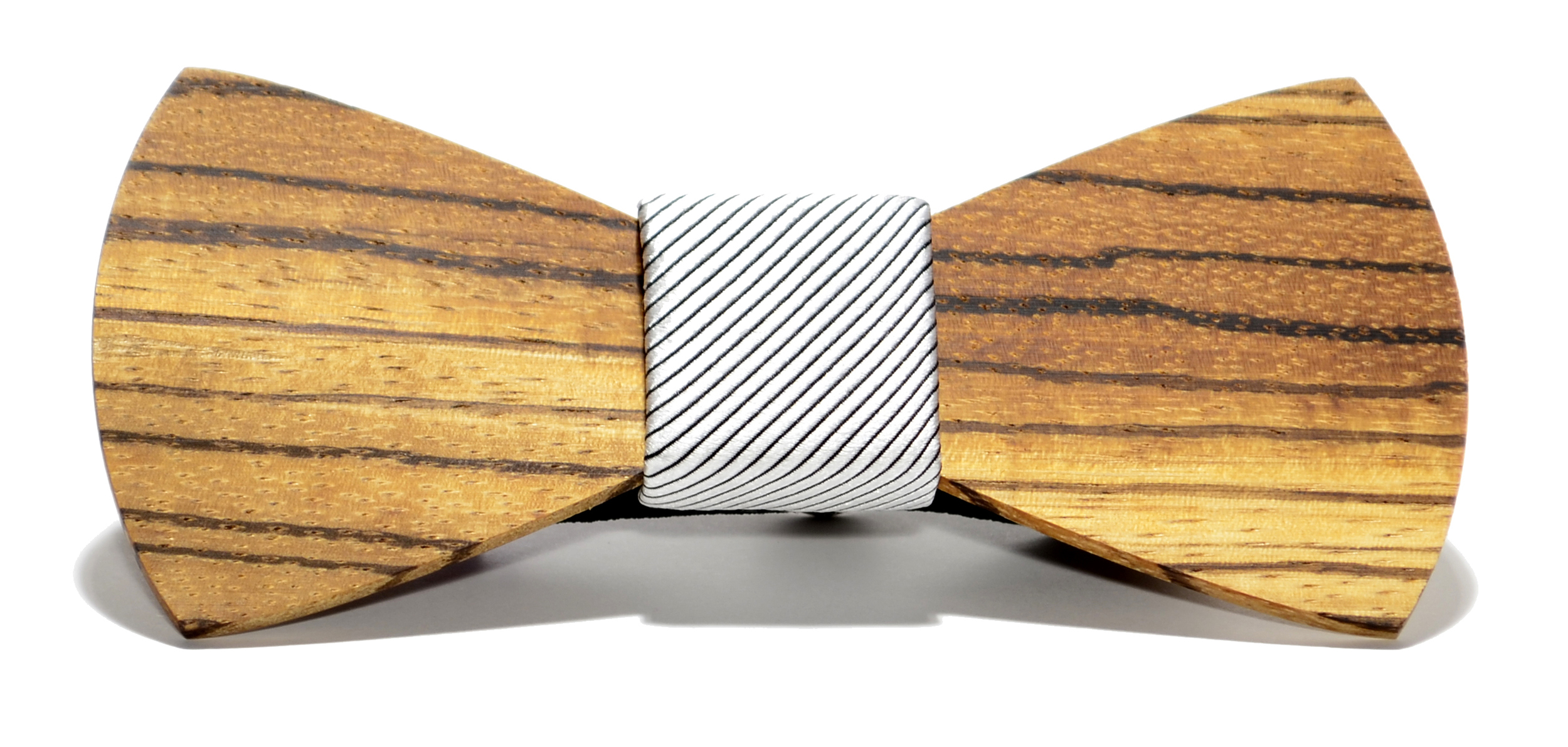 The Apollo Zebrawood Traditional Silk Wooden Bow Tie