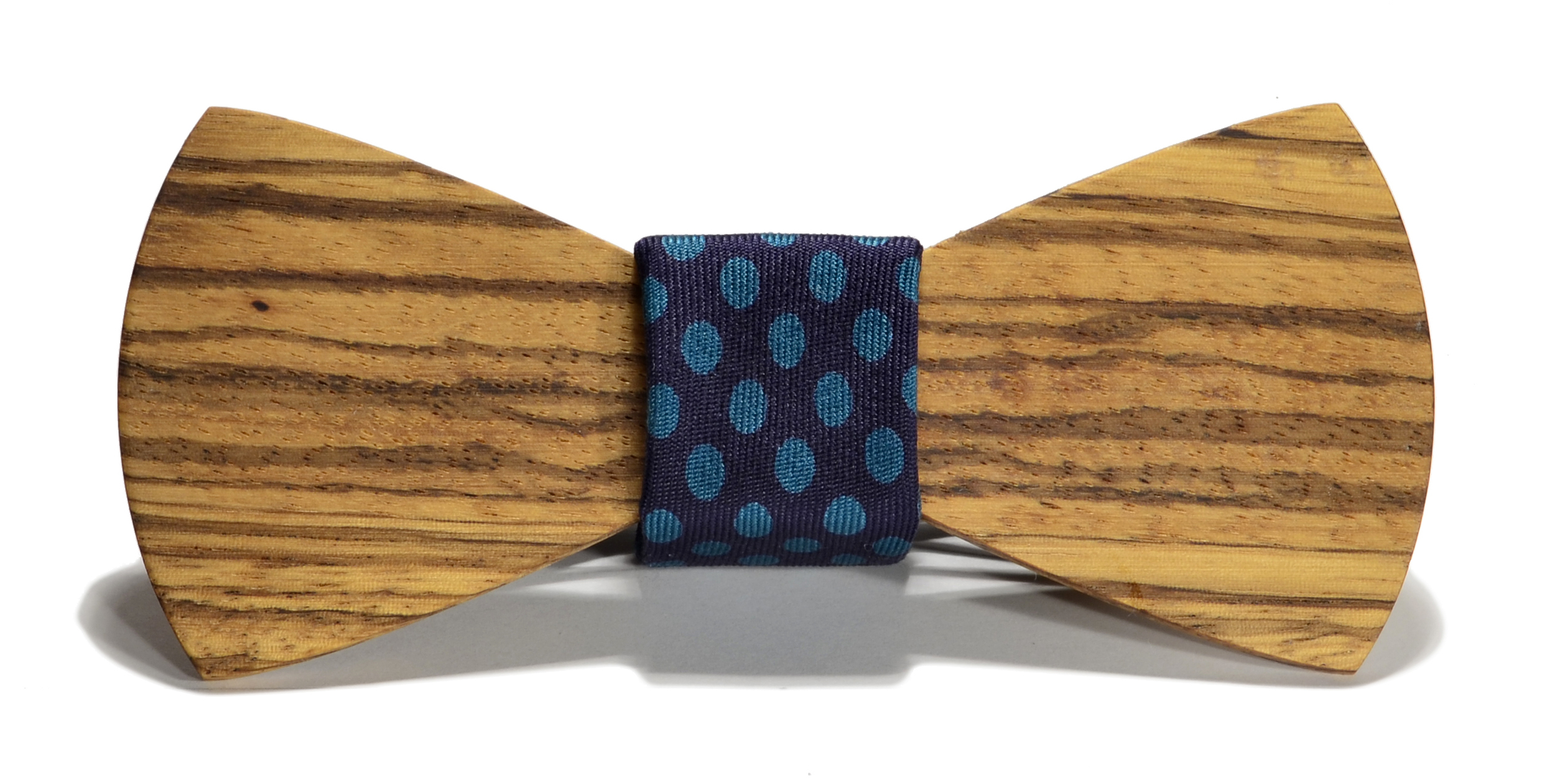 The Cambridge Zebrawood Traditional Silk Wooden Bow Tie