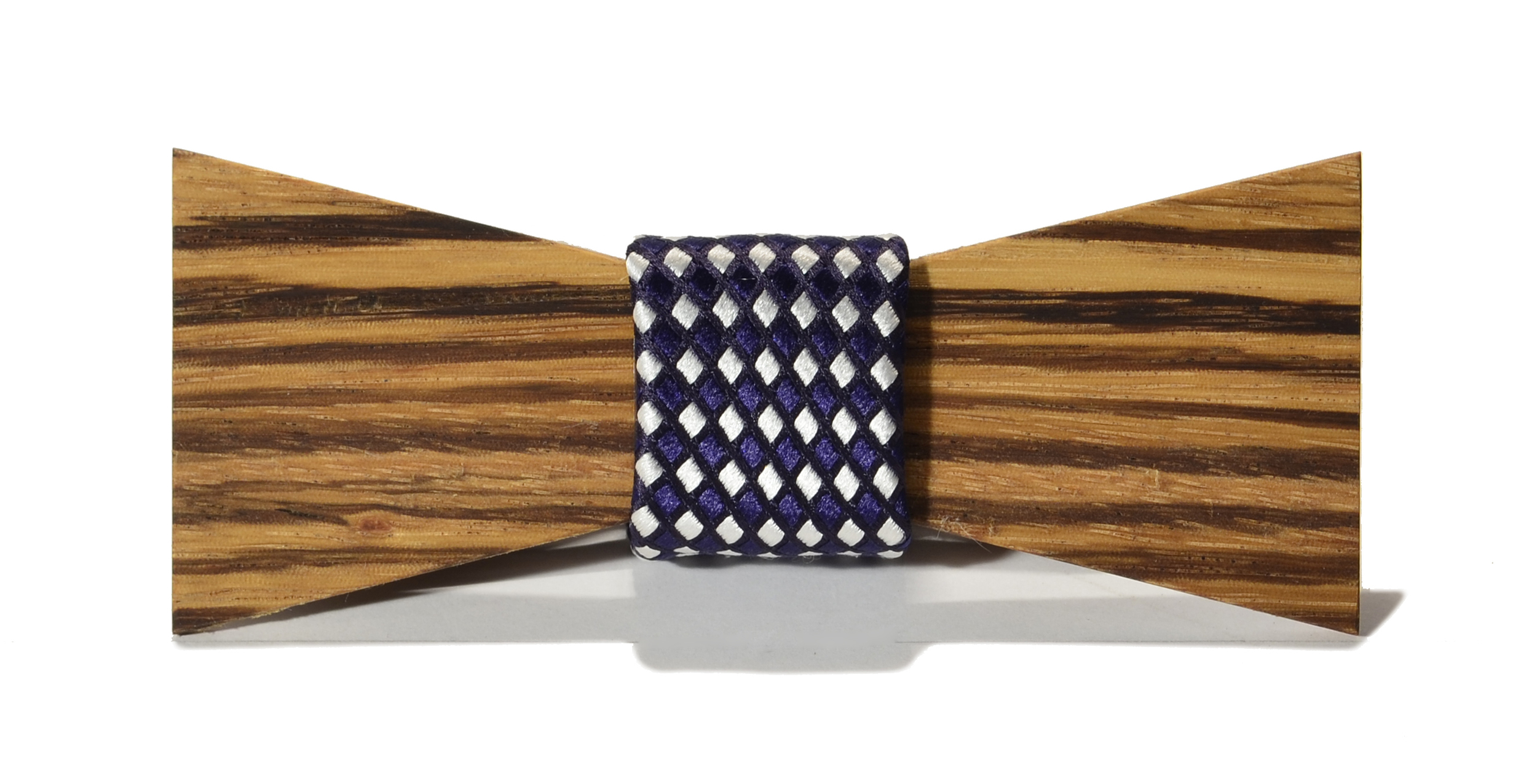 The Rook Zebrawood Shorty Silk Wooden Bow Tie
