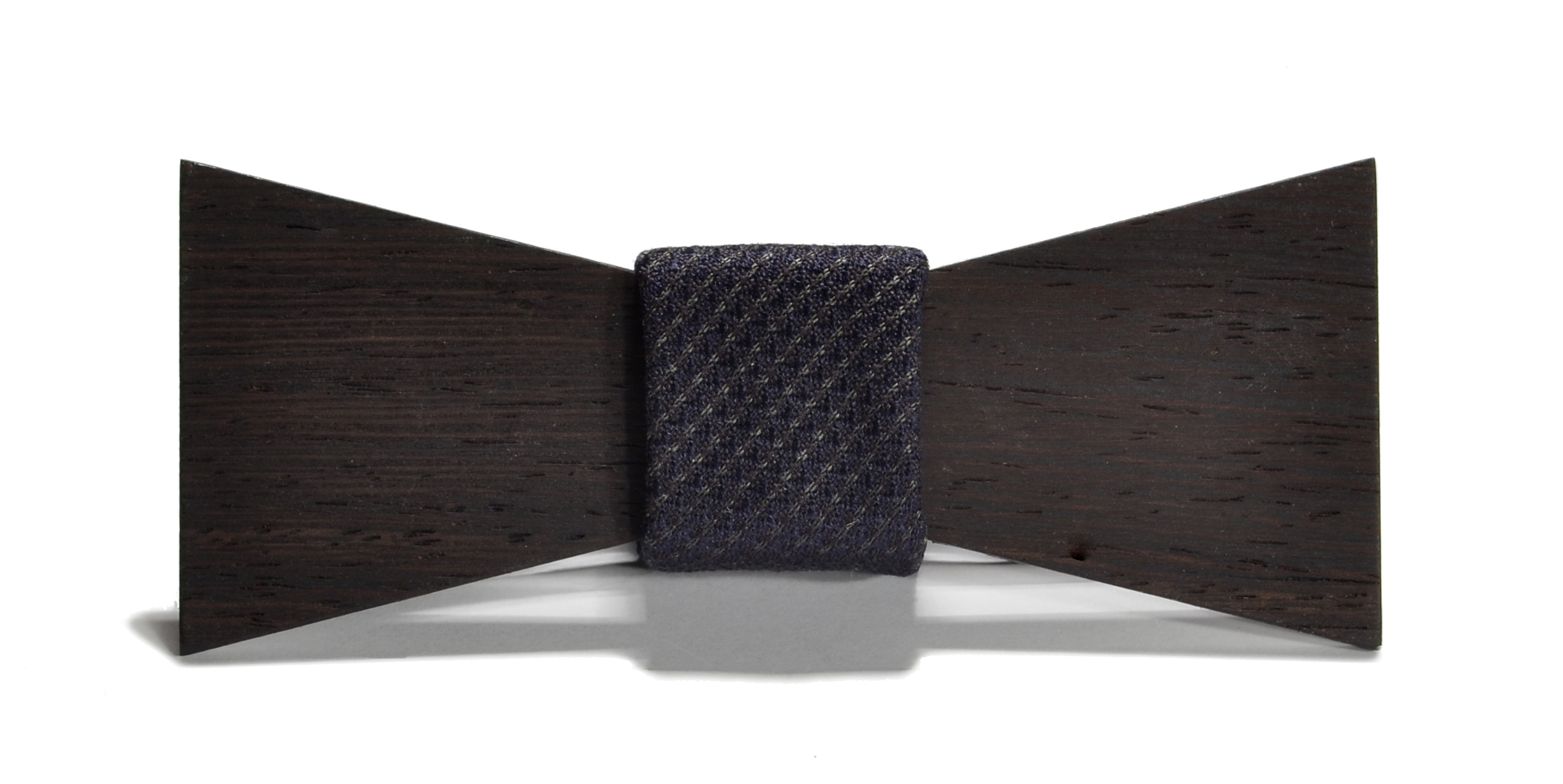 The Sinatra Wedge Shorty Silk Wooden Bow Tie
