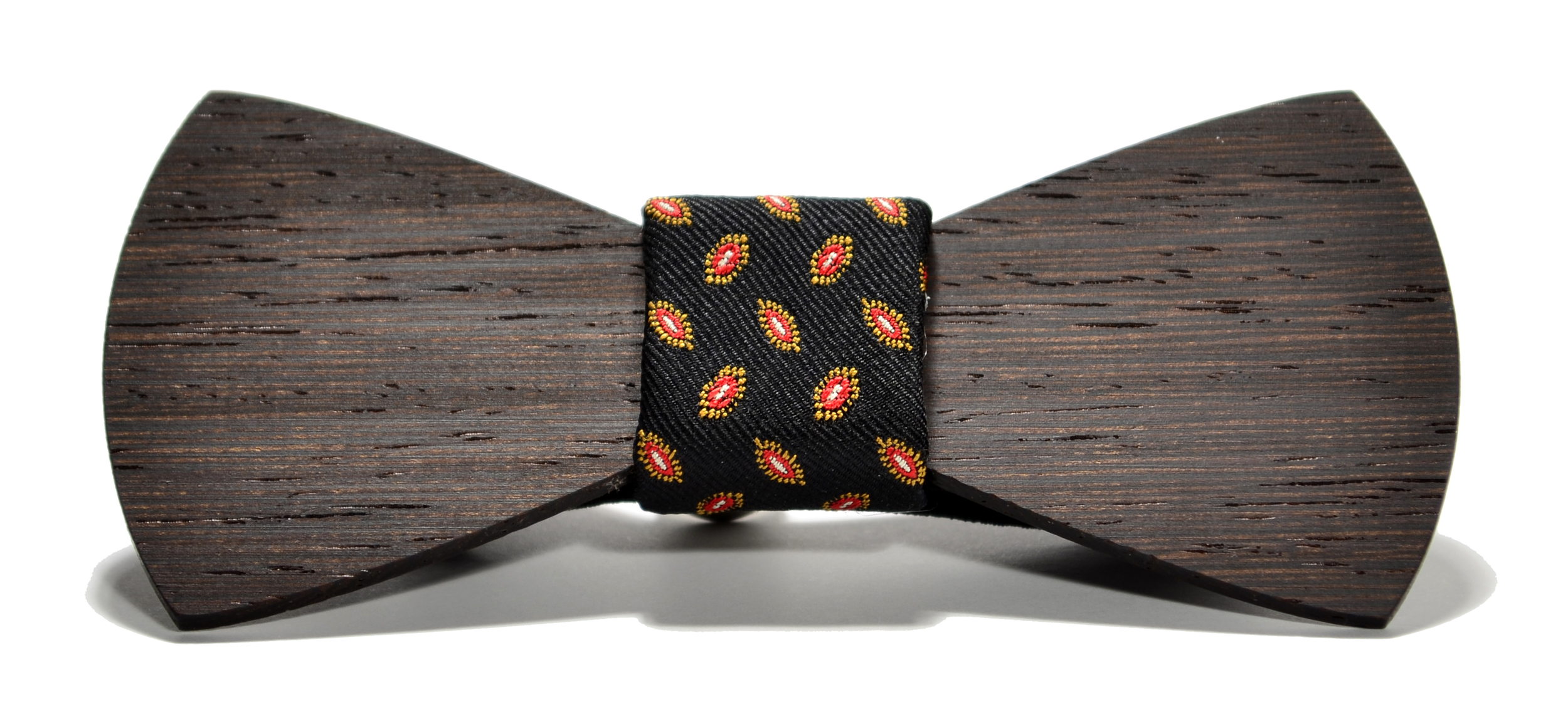 The Baron Wenge Traditional Silk Wooden Bow Tie