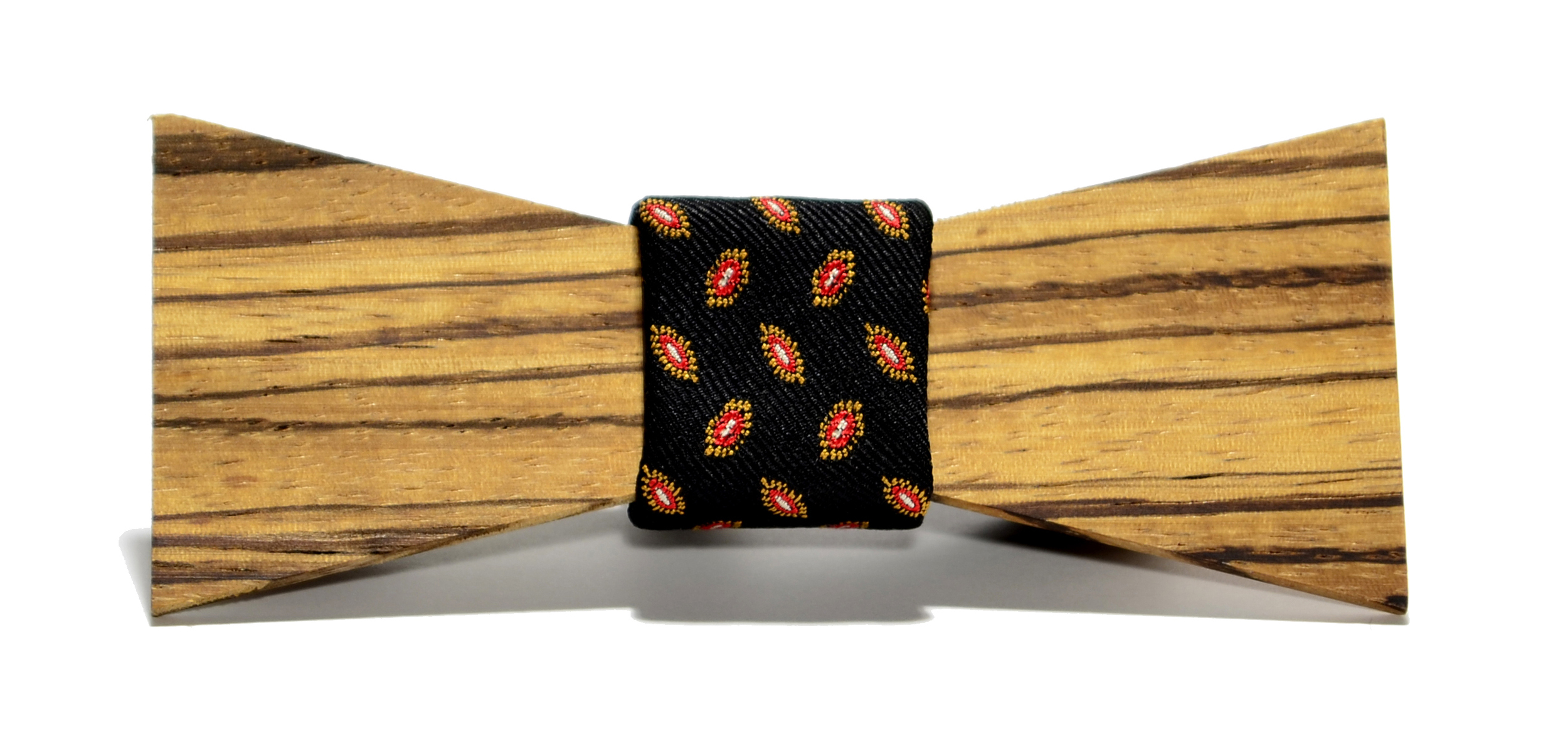 The Baron Zebrawood Shorty Silk Wooden Bow Tie