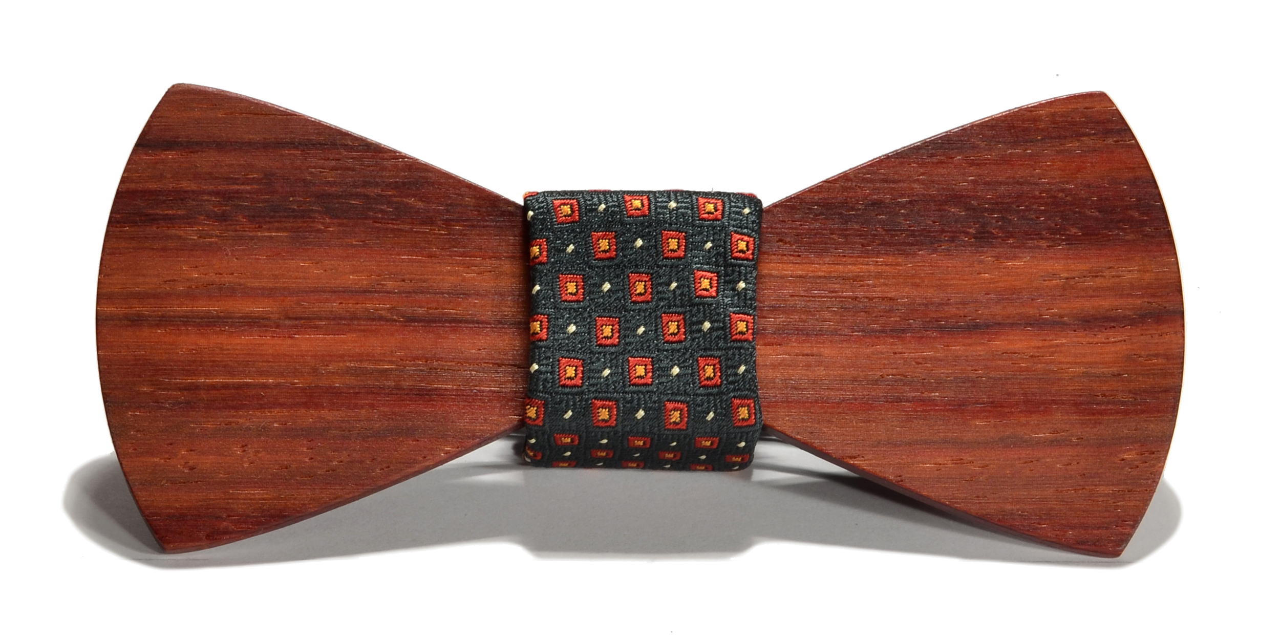 The Henry Zebrawood Padauk Traditional Silk Wooden Bow Tie