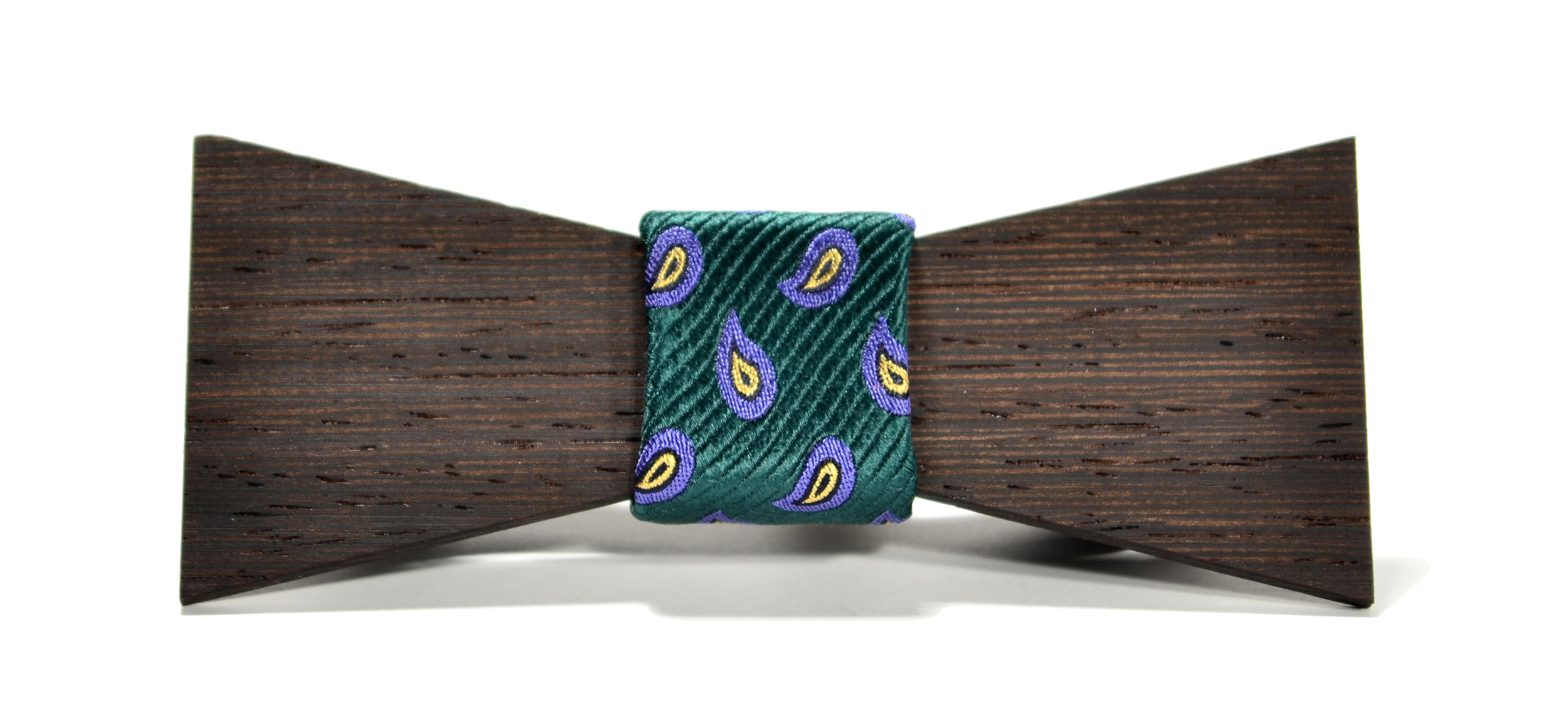 The Murphy Wenge Shorty Silk Wooden Bow Tie