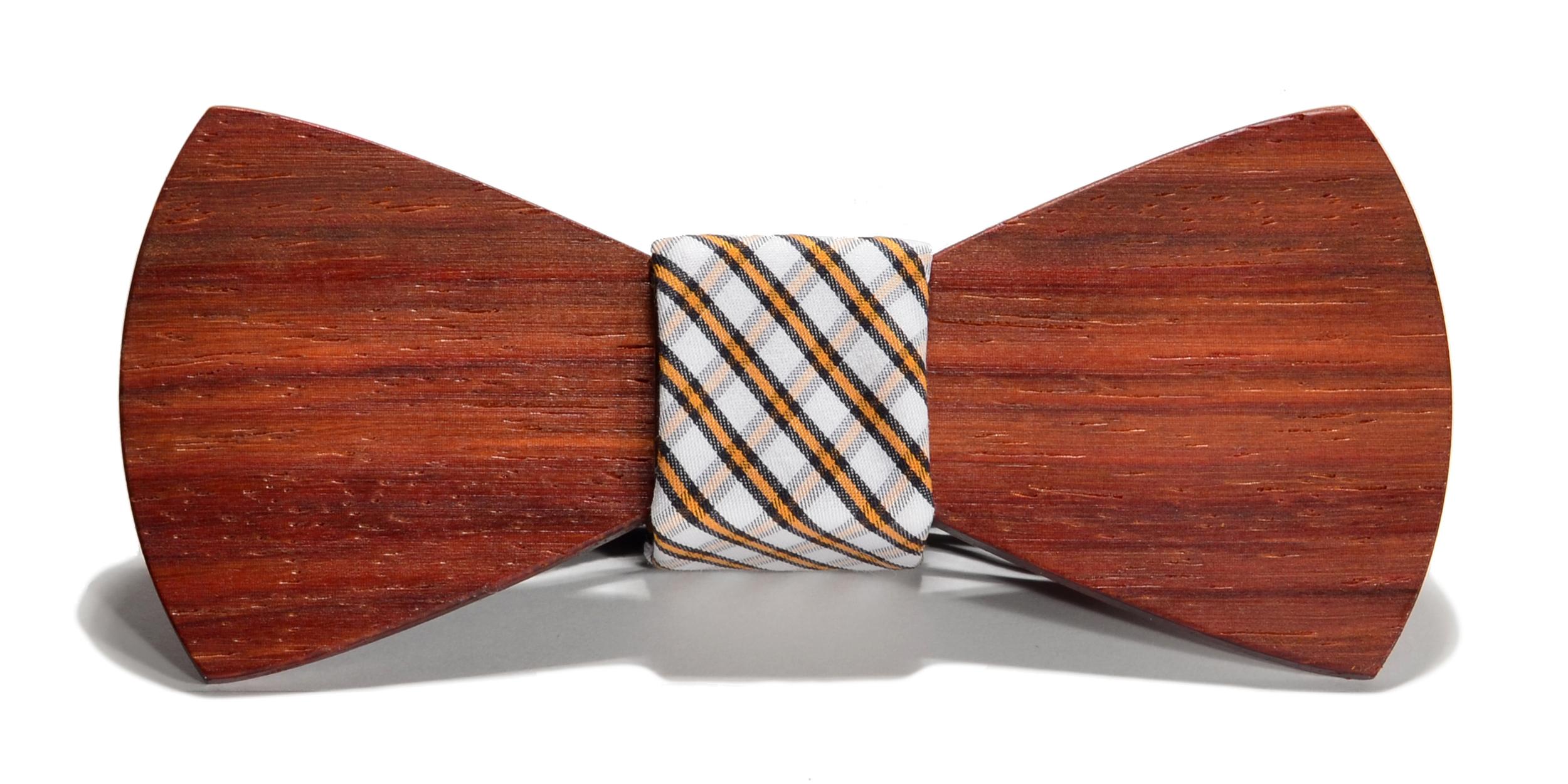The Huntsman Padauk Traditional Cotton Wooden Bow Tie