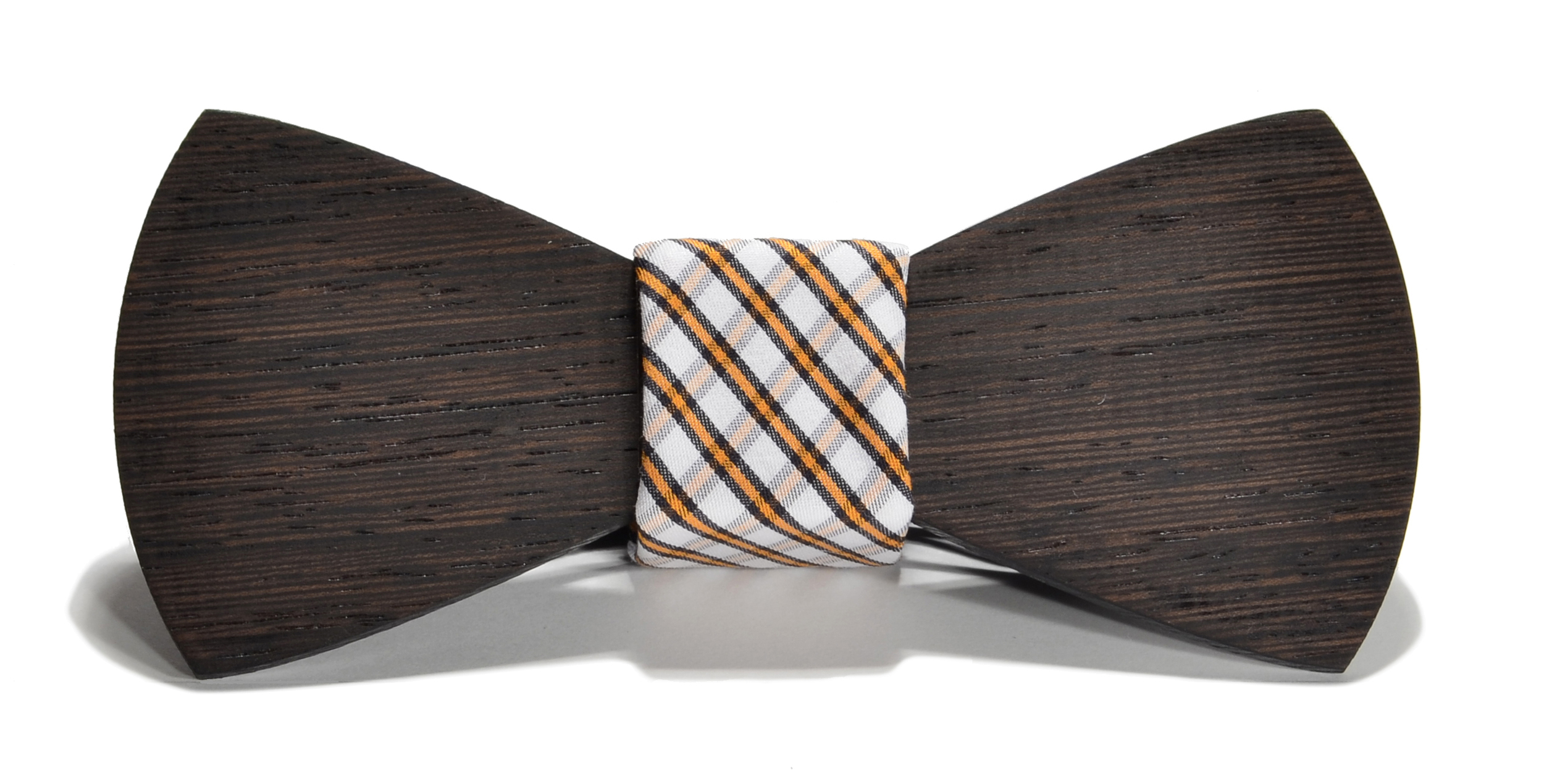 The Huntsman Wenge Traditional Cotton Wooden Bow Tie