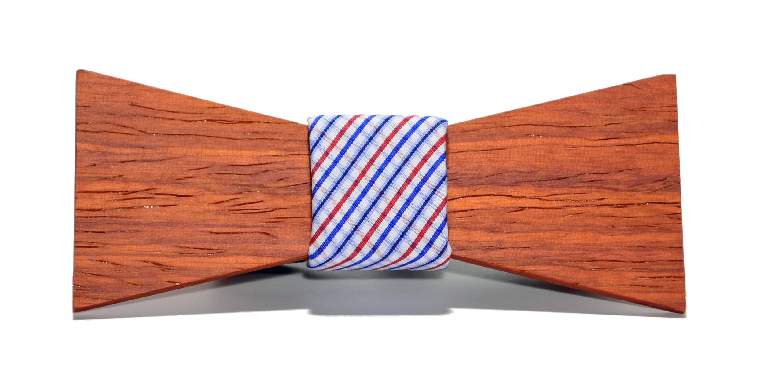 The Captain Padauk Shorty Cotton Wooden Bow Tie