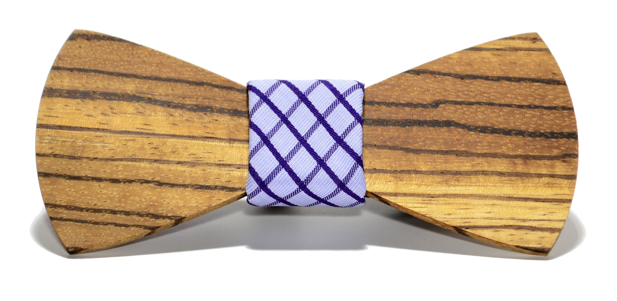 The Manhattan Zebrawood Traditional Cotton Wooden Bow Tie