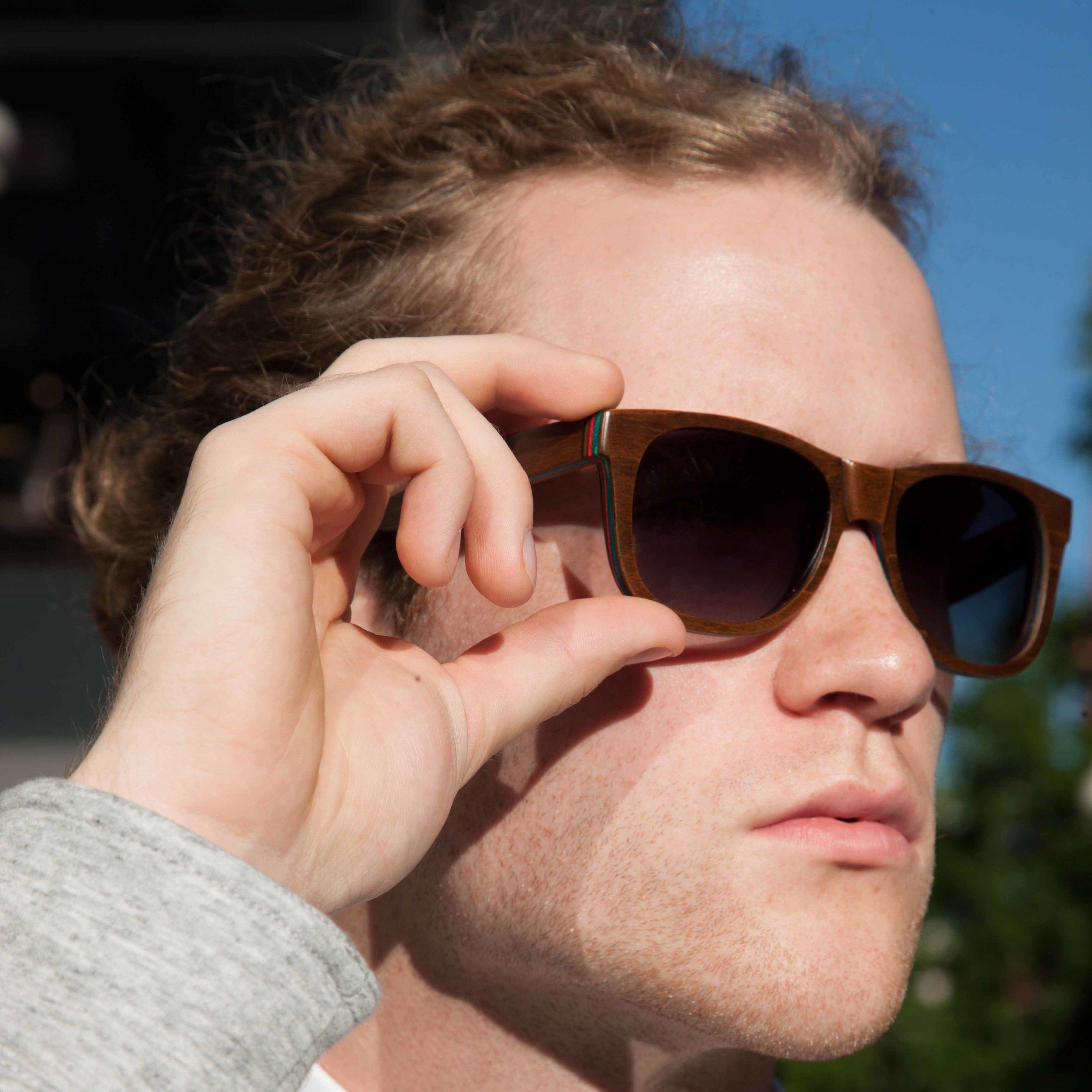 Skateboard Sunglasses Driftwood Brown