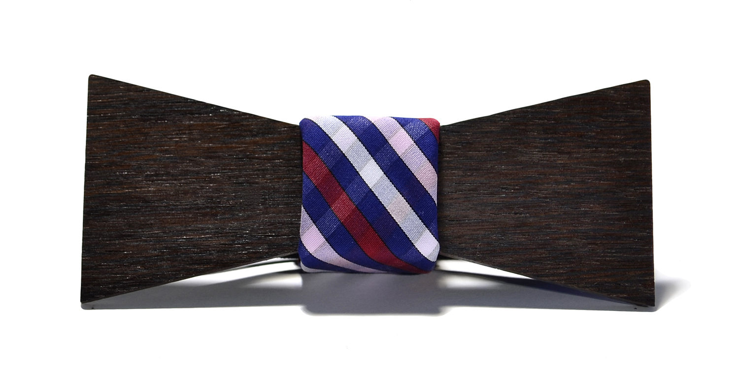 switchwood barcelona interchangeable wood bow tie wenge shorty