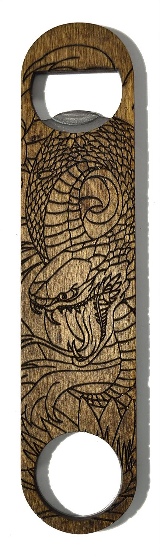 wooden bottle opener snake