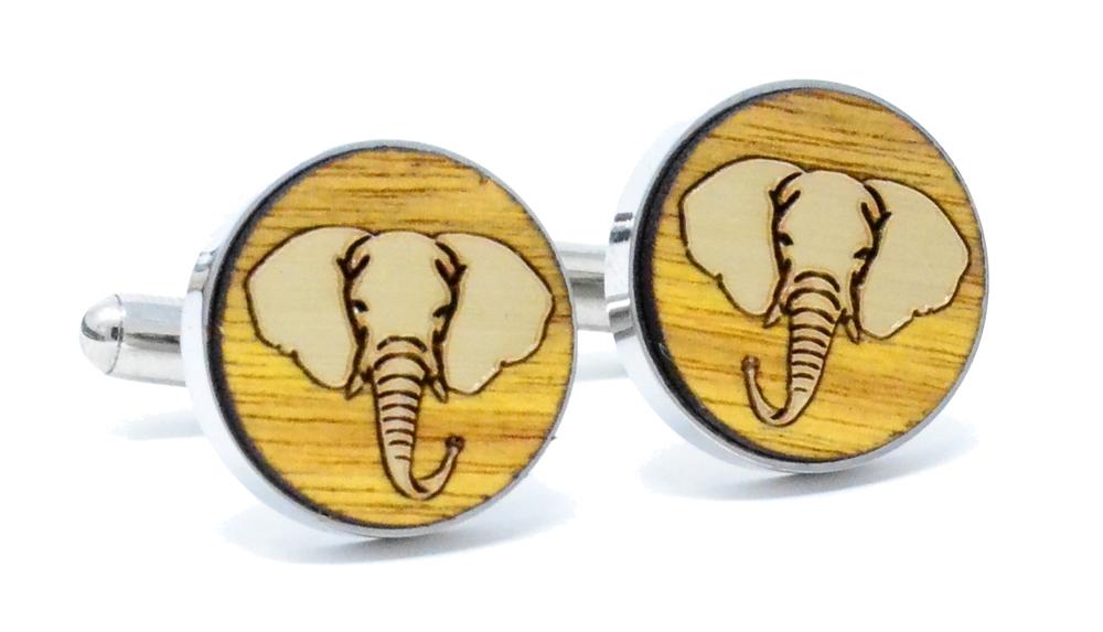 Gold Elephant Cufflinks Canary