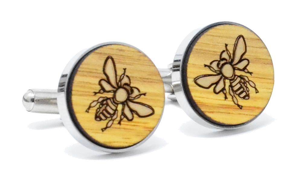 Golden Bee Cufflinks Canary