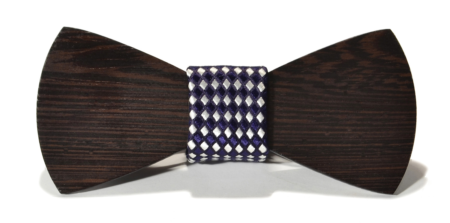 The rook interchangeable wooden bow tie wenge traditional