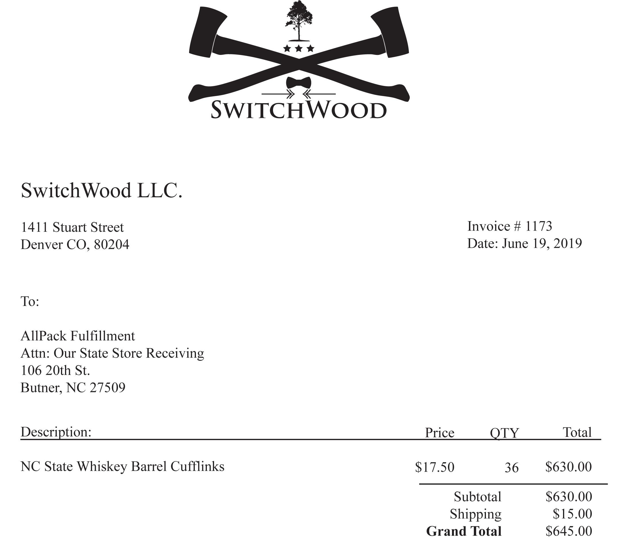 Switchwood Invoice 1173