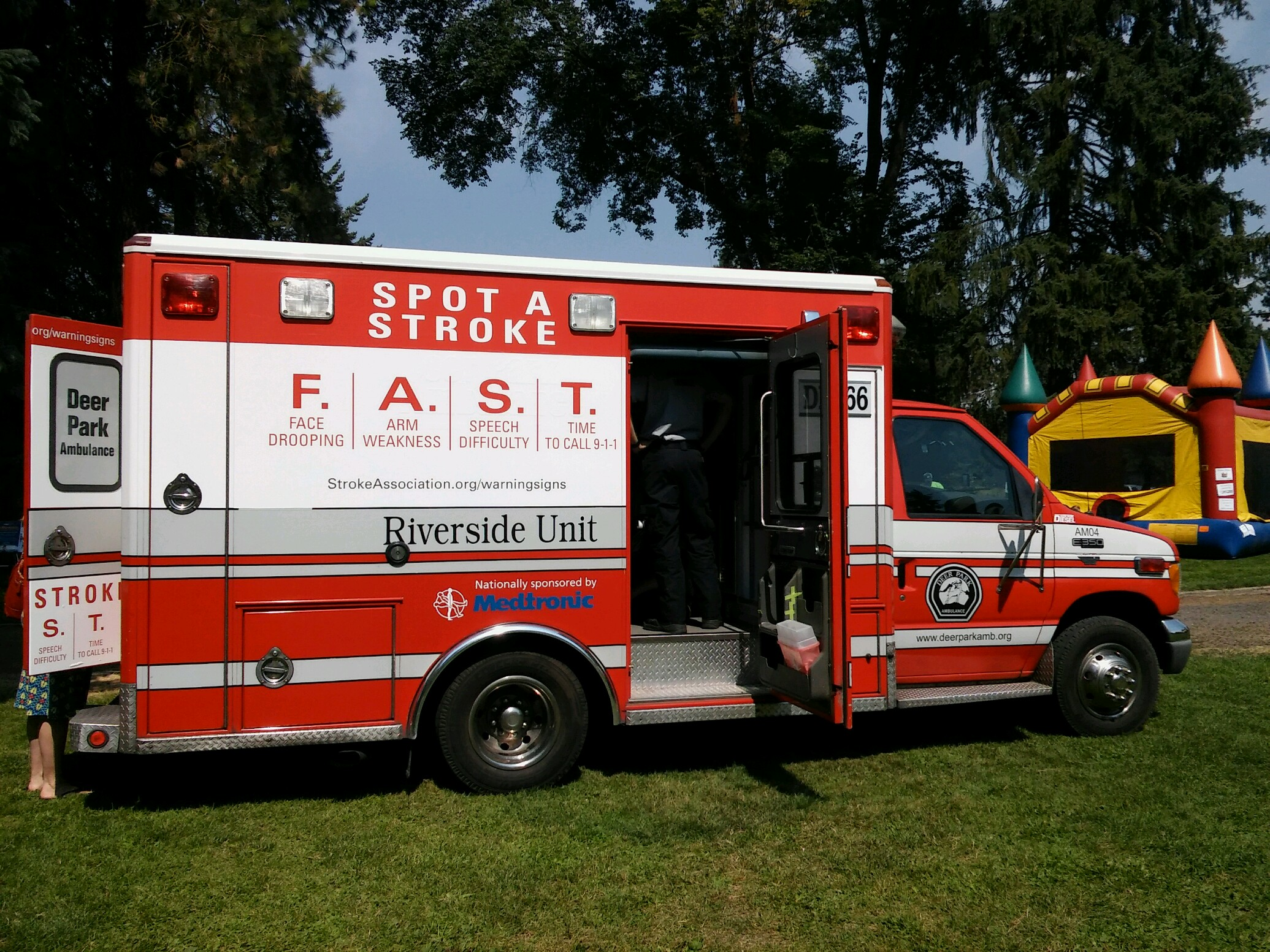 Stroke Awareness vehicle wrap sponsored by Medtronics and the American Heart Assoc.