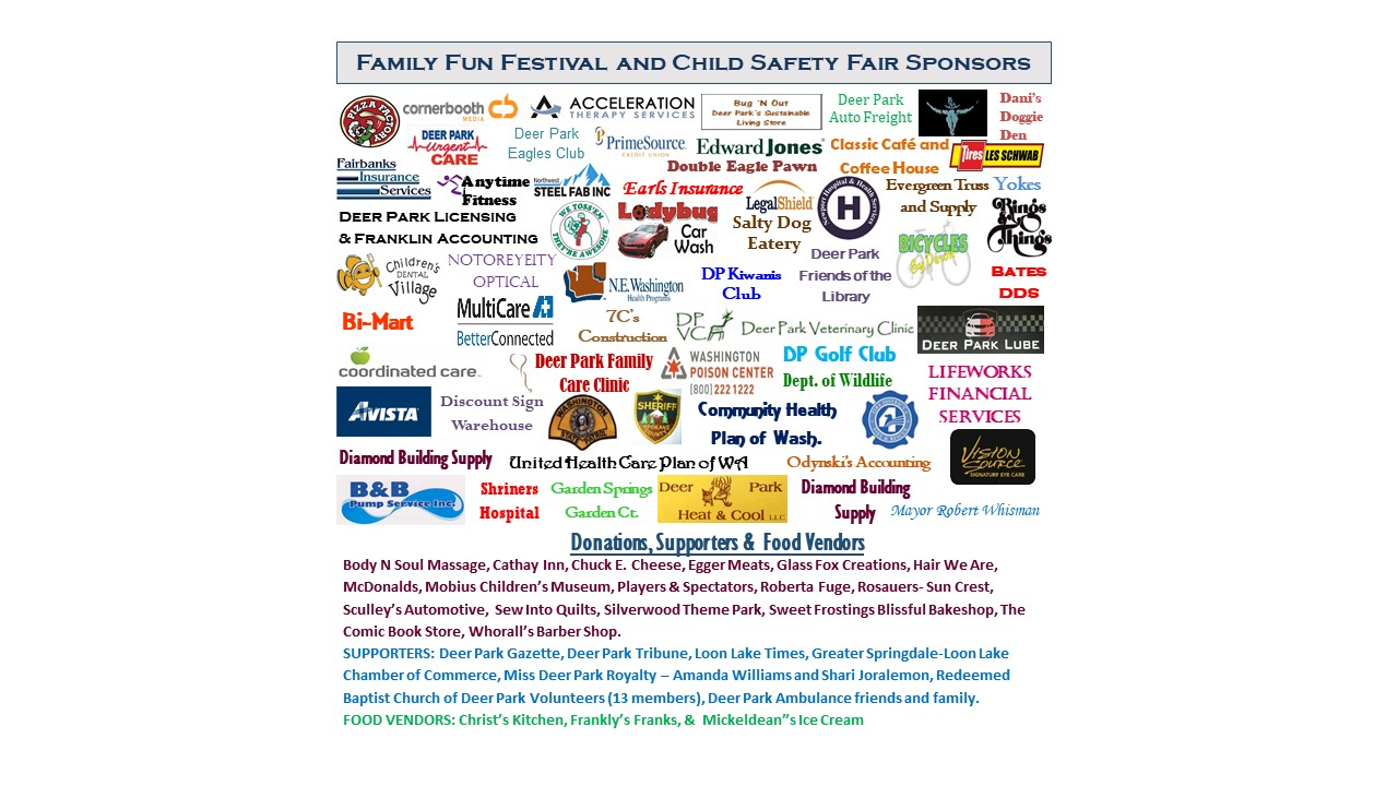 We have a great appreciation for the gracious support of our sponsors and those who donated to our cause. Please see the Vendor link above for a better view of our community supporters!