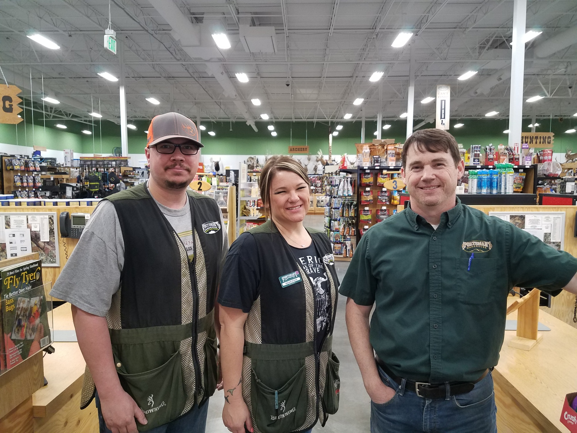 Eric and crew at Sportsman's Warehouse