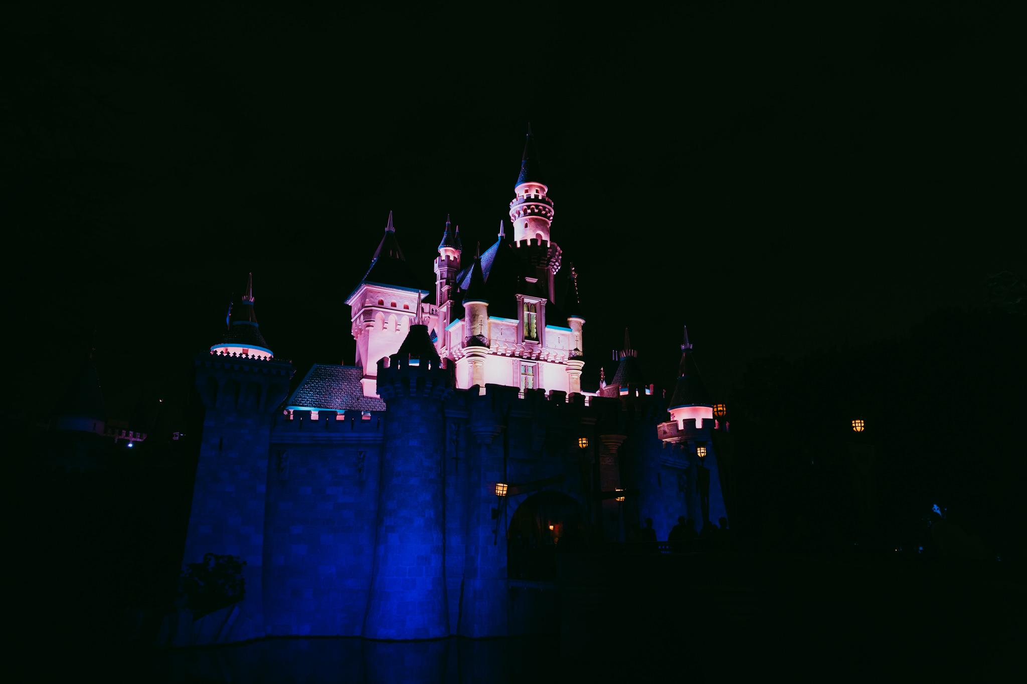 Fantasyland Castle | f2.8, 1/80, ISO 3200, 24mm