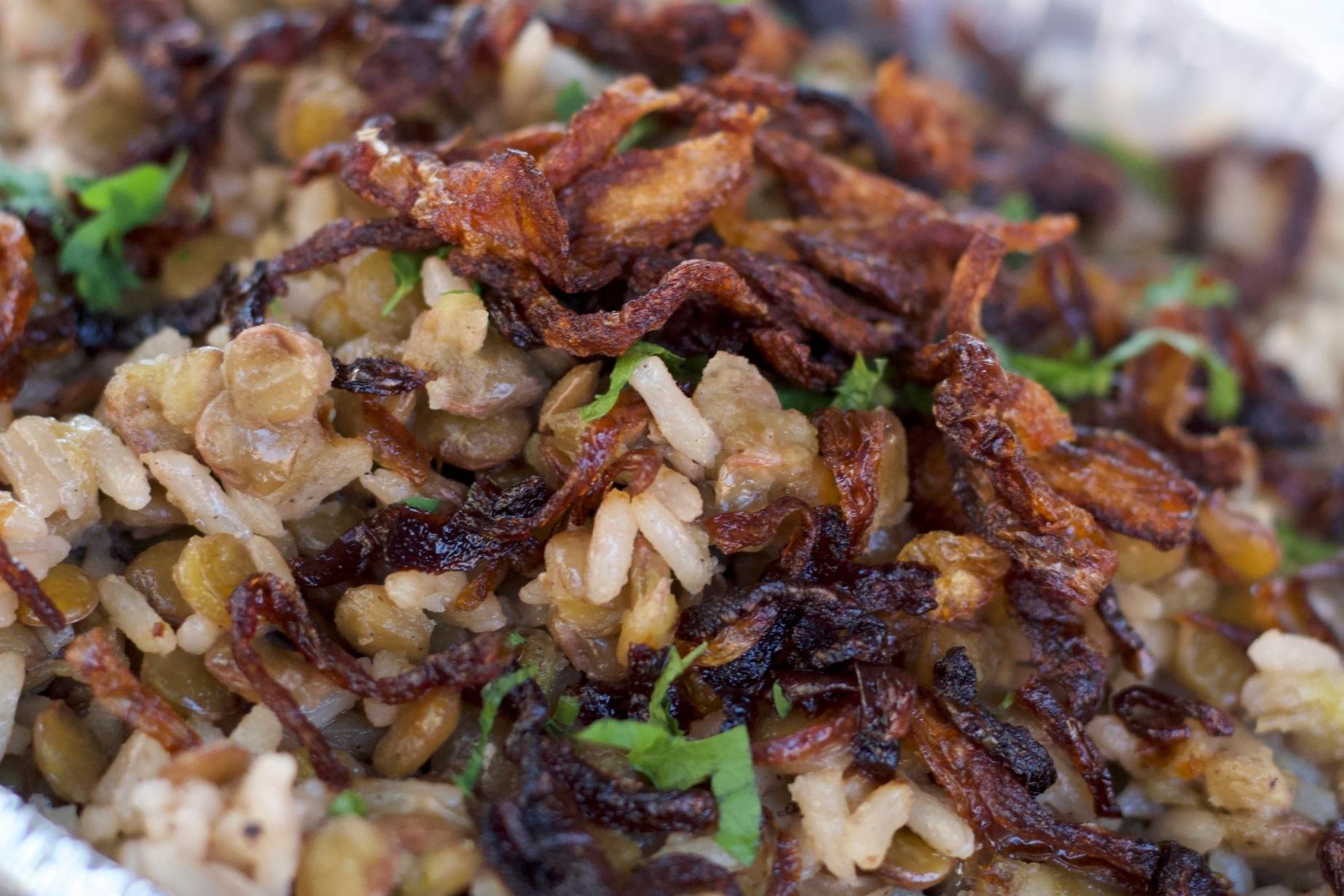 Rice with Lentils VV   M $30.00 / L $60.00
