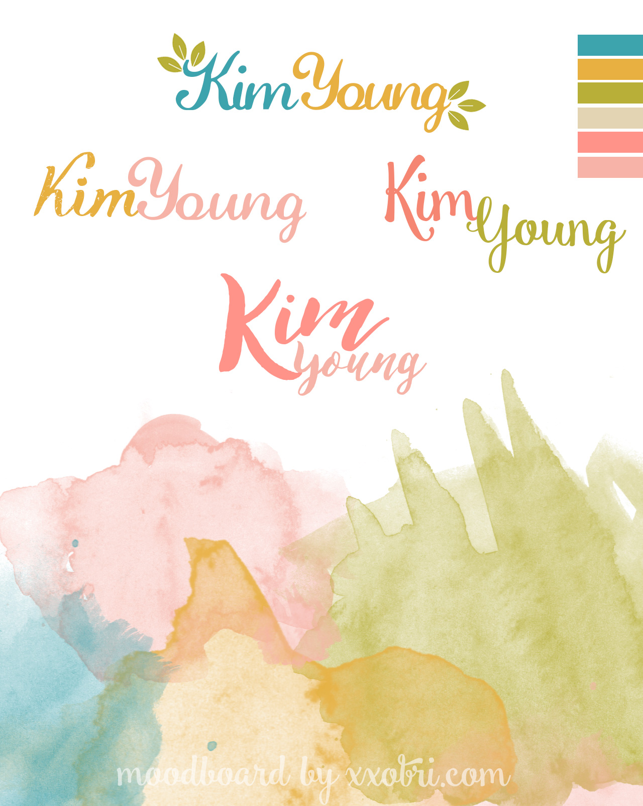 KIM  YOUNG // BRANDING & LOGO DESIGN CONCEPTS BY XXOBRI.COM