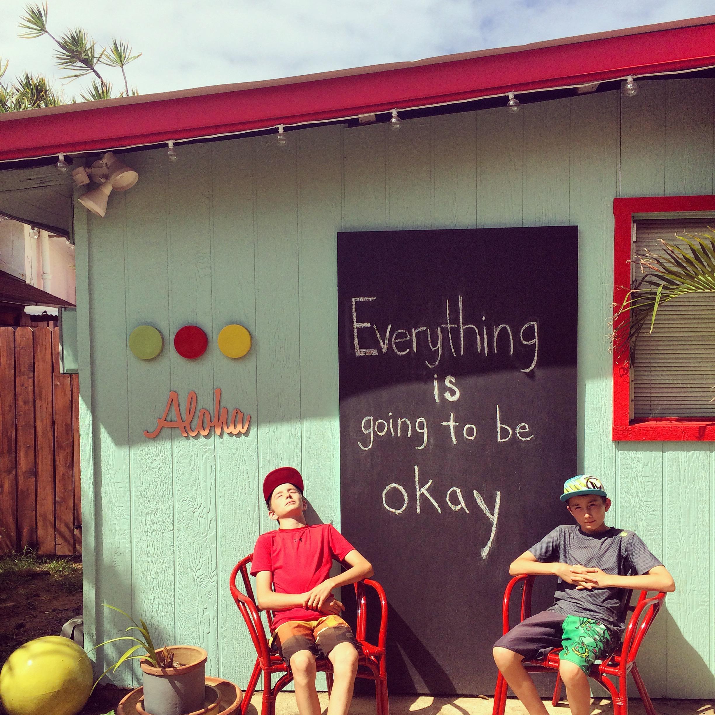 Soaking in the aloha spirit of Kauai—our peace place.