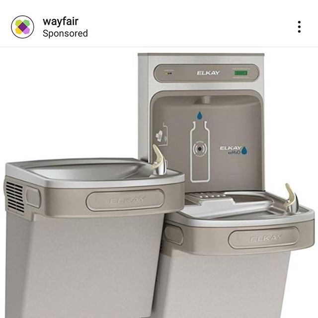 Yeah @instagram I agree, this water fountain is exactly what I need in my house. I'll mount it to the wall right outside the public restroom I just had put in off the guest room.